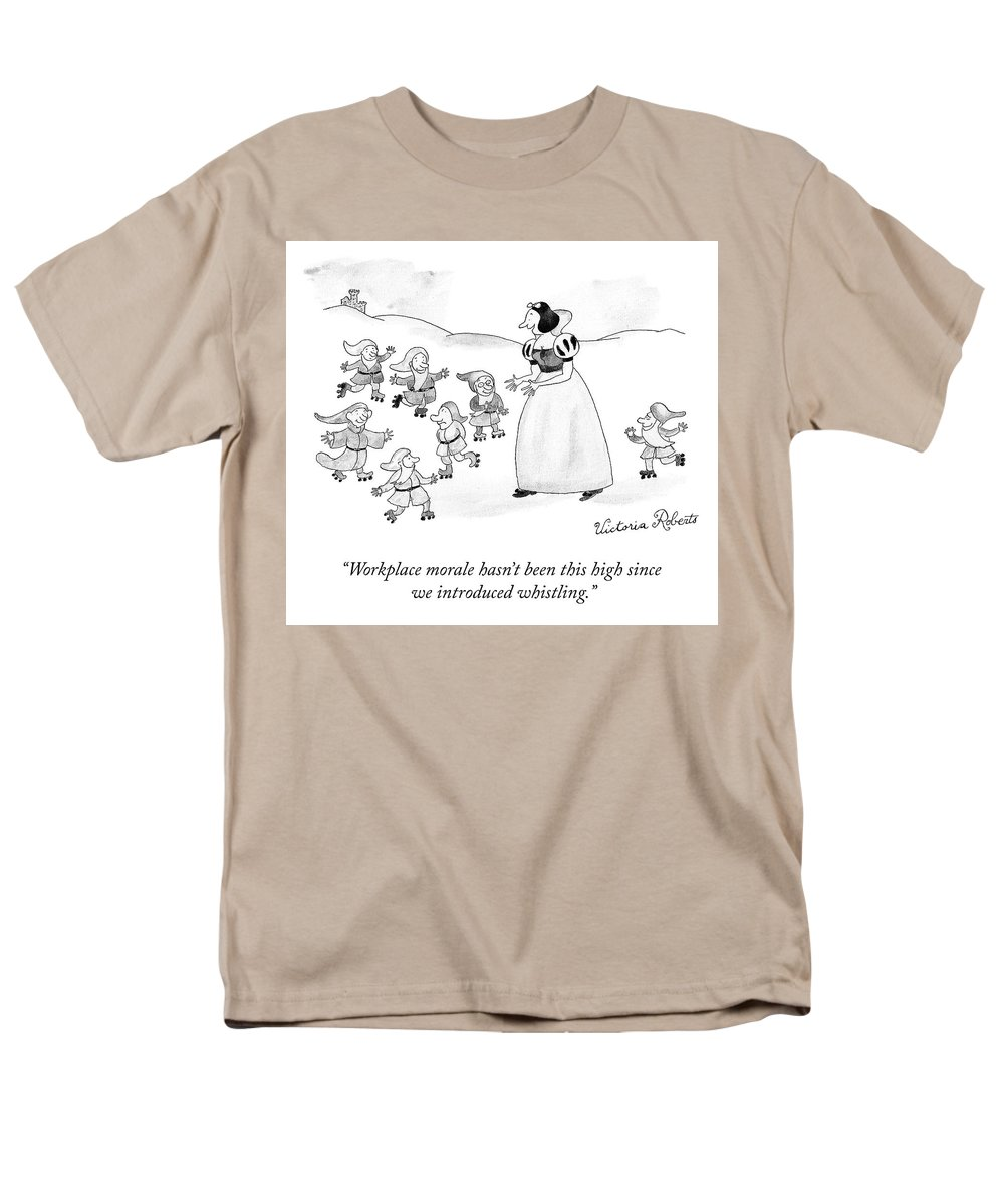 Cctk Men's T-Shirt (Regular Fit) featuring the drawing Workplace Morale by Victoria Roberts