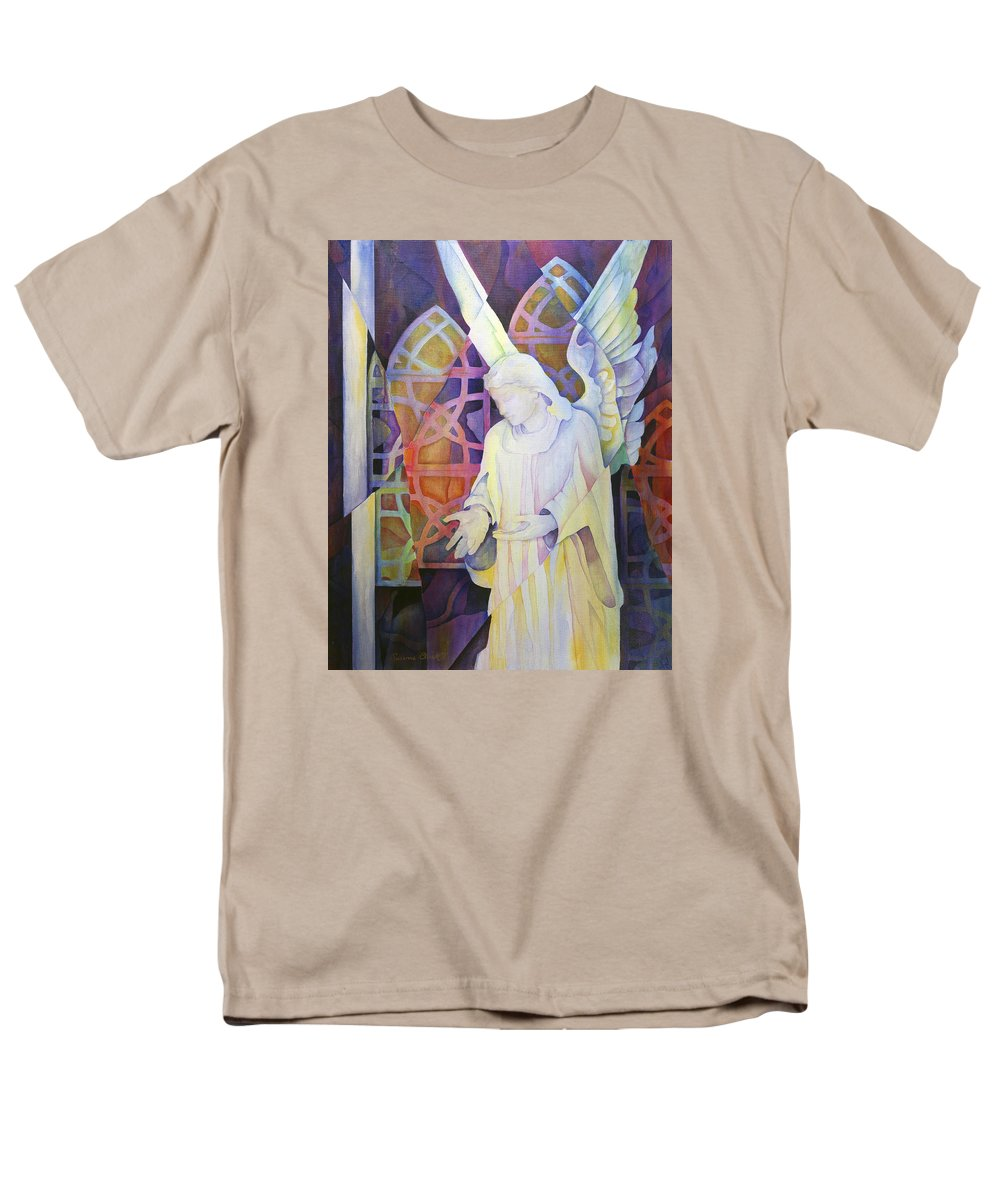 Susanne Clark Men's T-Shirt (Regular Fit) featuring the painting Compassion - Angel Painting by Susanne Clark