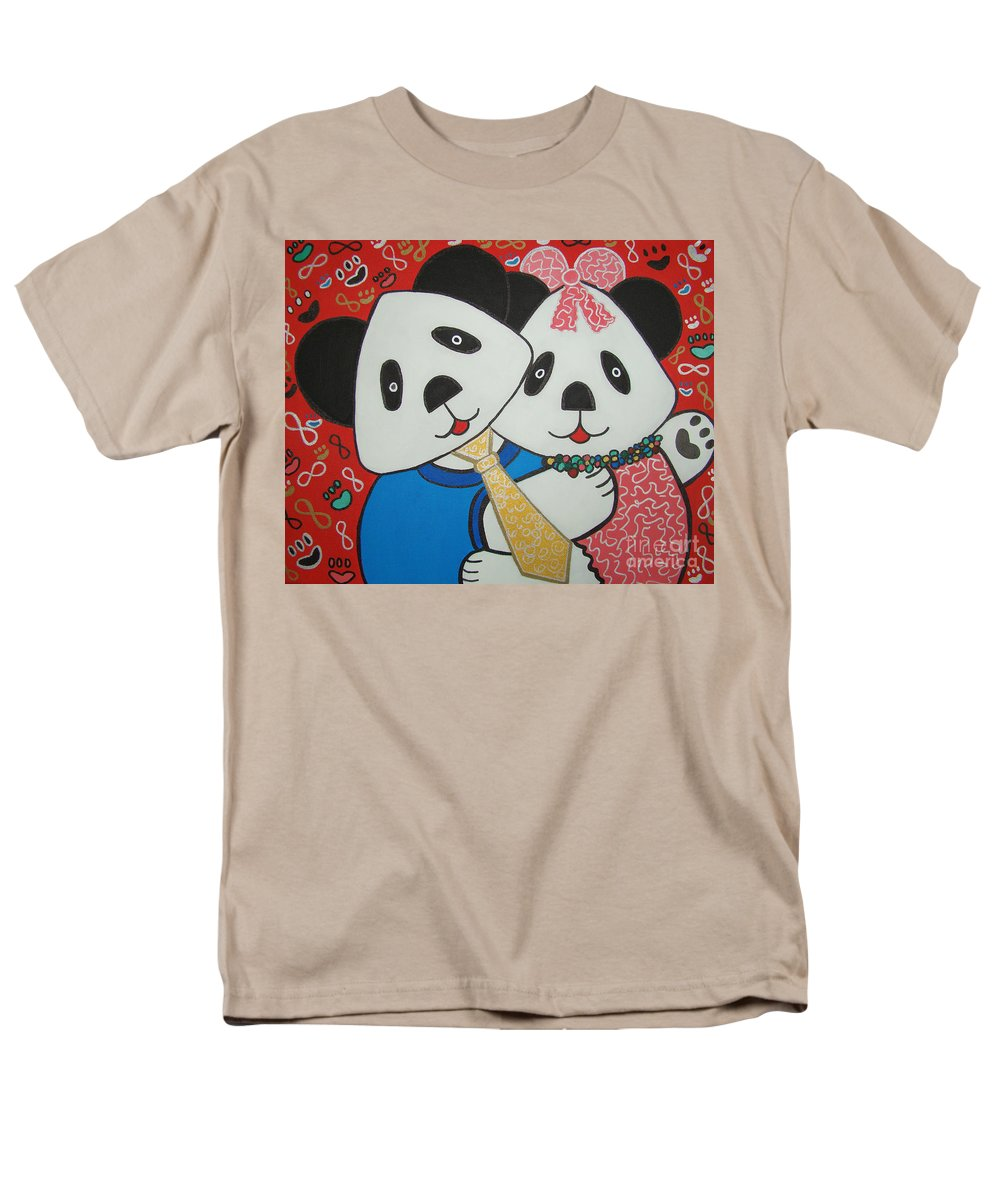 Pop-art Men's T-Shirt (Regular Fit) featuring the painting Bear Party by Silvana Abel