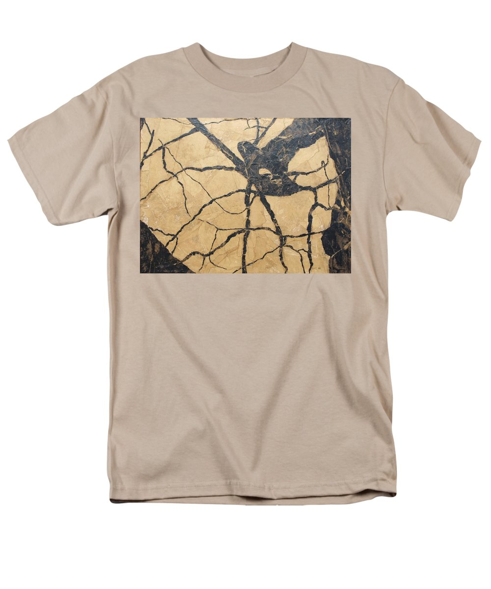 Abstract Men's T-Shirt (Regular Fit) featuring the painting Looking Up by Leah Tomaino