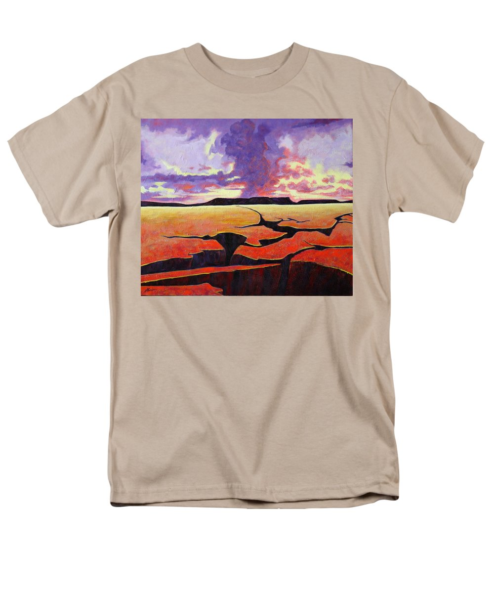 Ancient Landscape Men's T-Shirt (Regular Fit) featuring the painting Once Apon A Time by Joe Triano