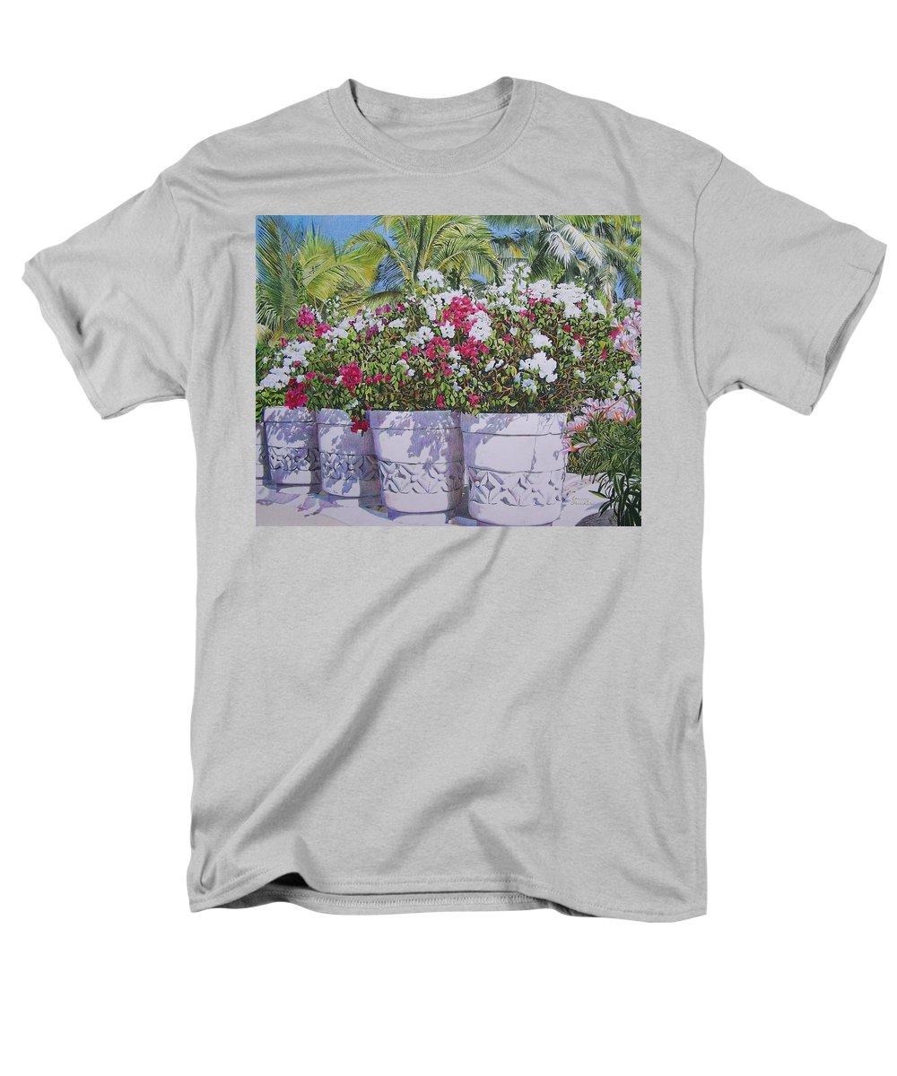 Flowers Men's T-Shirt (Regular Fit) featuring the mixed media Bougainvillea by Constance Drescher