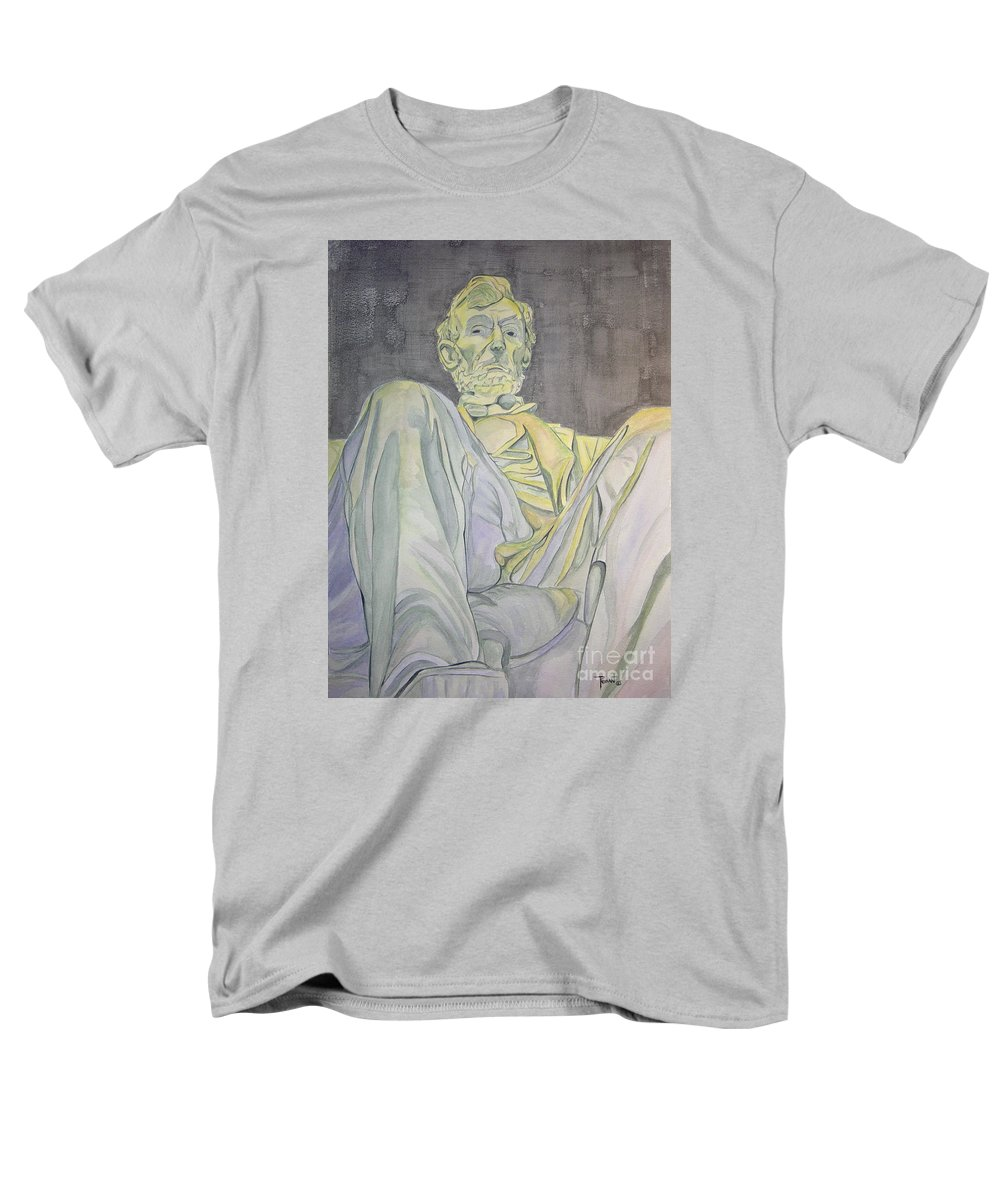 Presidents Men's T-Shirt (Regular Fit) featuring the painting Lincoln by Regan J Smith