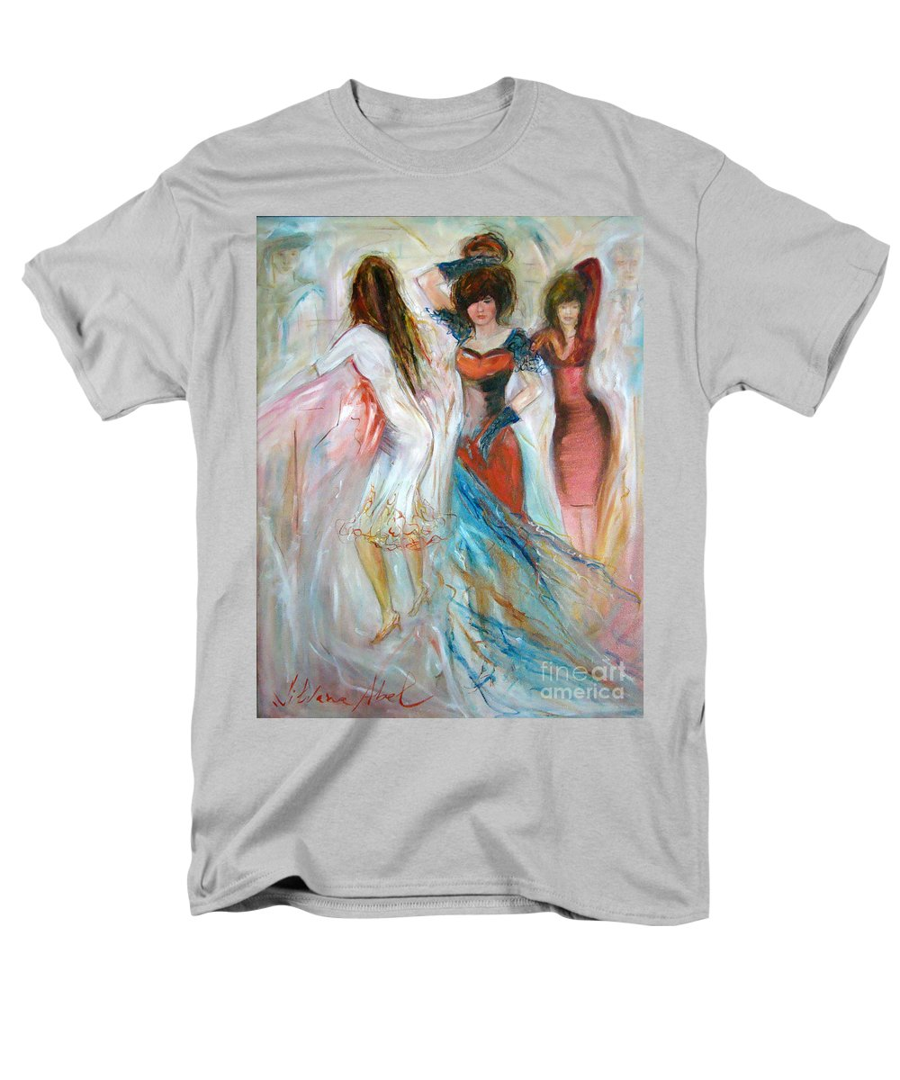 Contemporary Art Men's T-Shirt (Regular Fit) featuring the painting Party Time by Silvana Abel