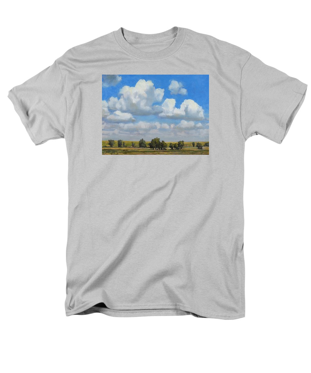 Landscape Men's T-Shirt (Regular Fit) featuring the painting Summer Pasture by Bruce Morrison