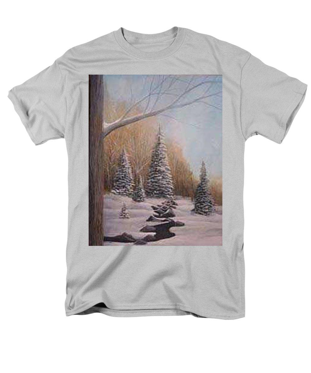 Rick Huotari Men's T-Shirt (Regular Fit) featuring the painting Winter Morning by Rick Huotari