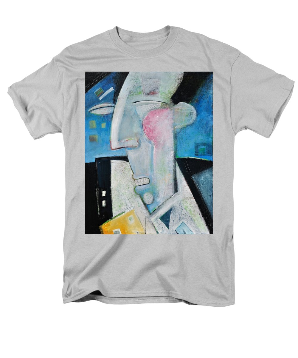 Jazz Men's T-Shirt (Regular Fit) featuring the painting Jazz Face by Tim Nyberg