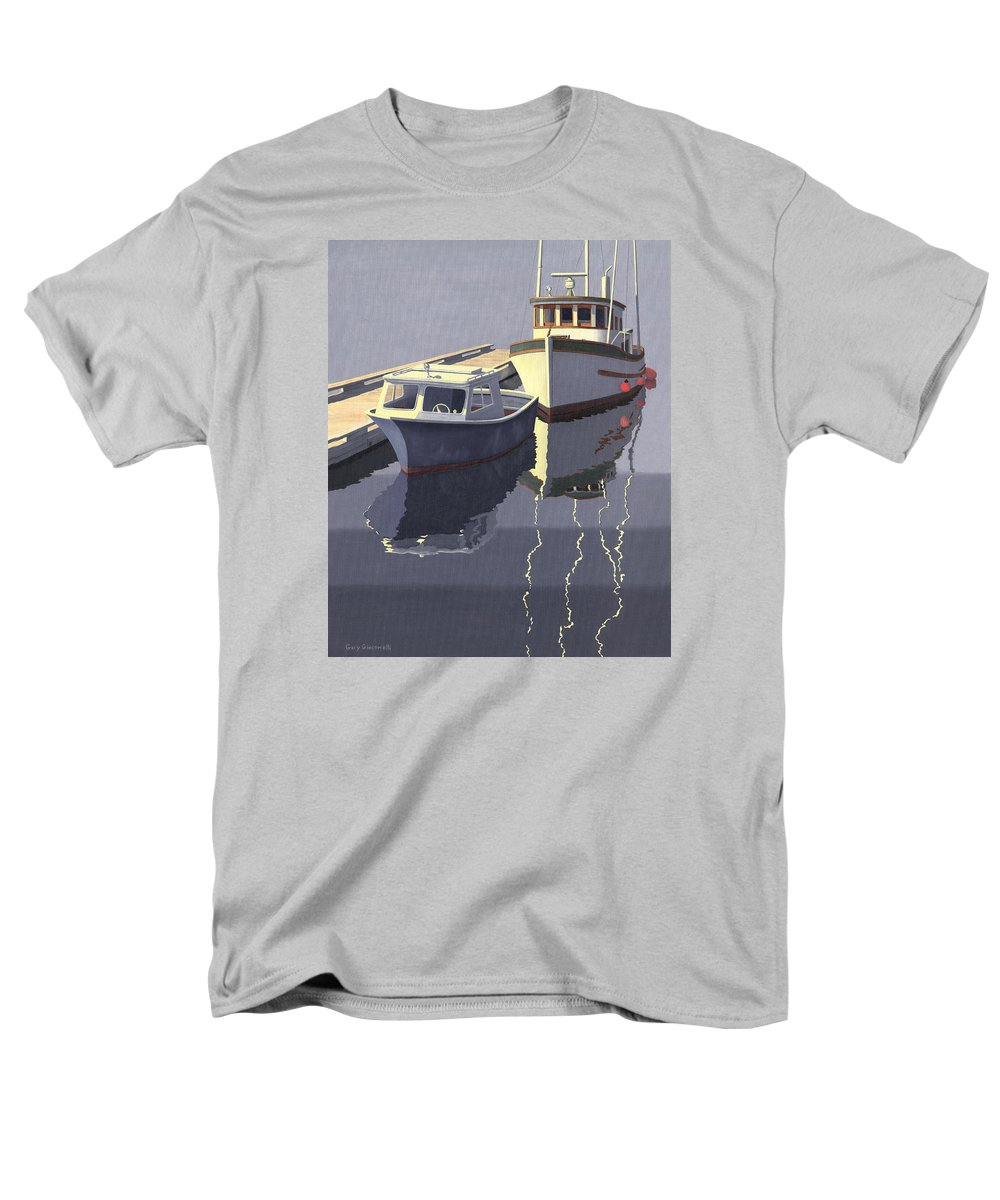 Boat Men's T-Shirt (Regular Fit) featuring the painting After The Rain by Gary Giacomelli
