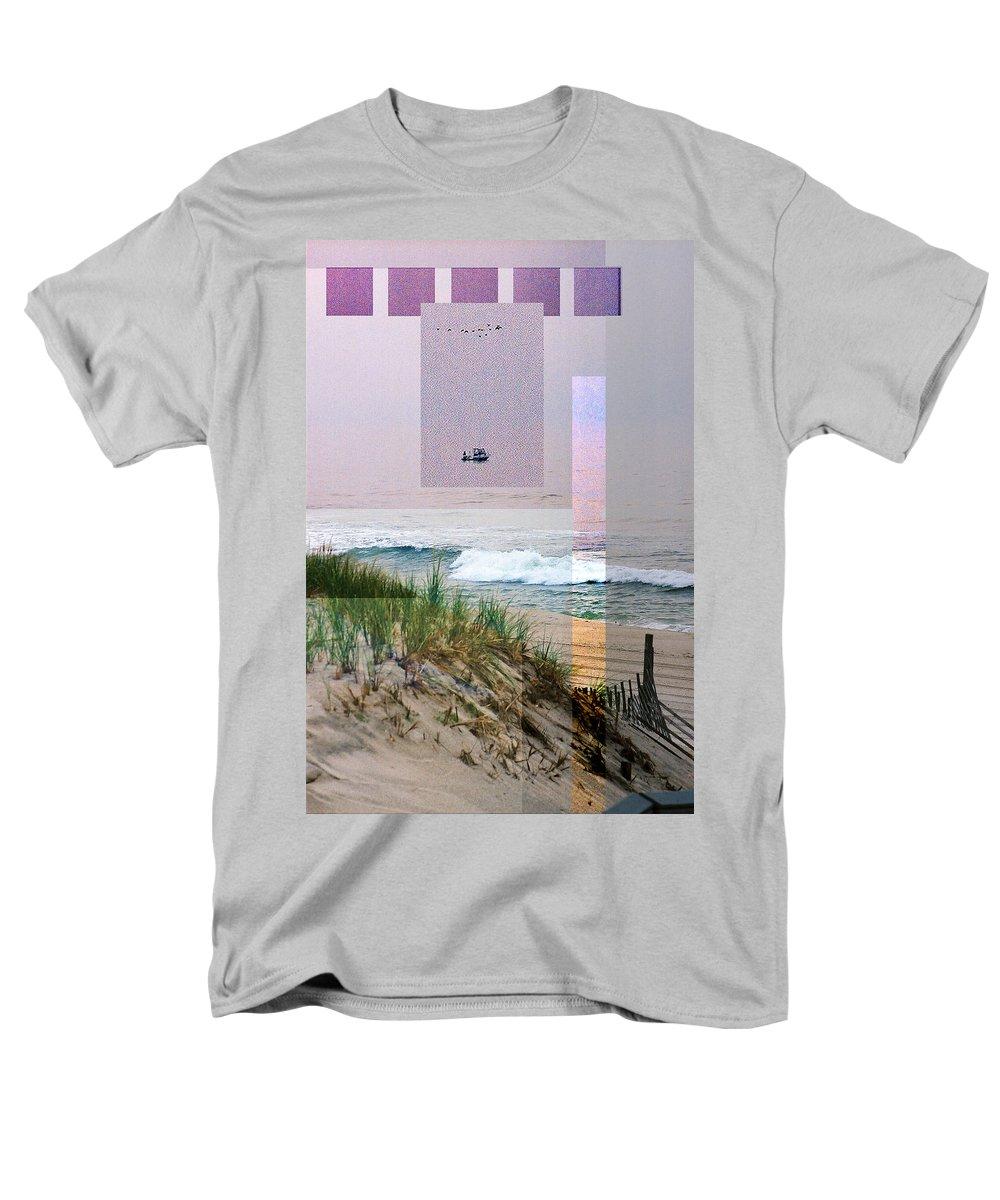 Landscape Men's T-Shirt (Regular Fit) featuring the digital art Beach Collage 3 by Steve Karol