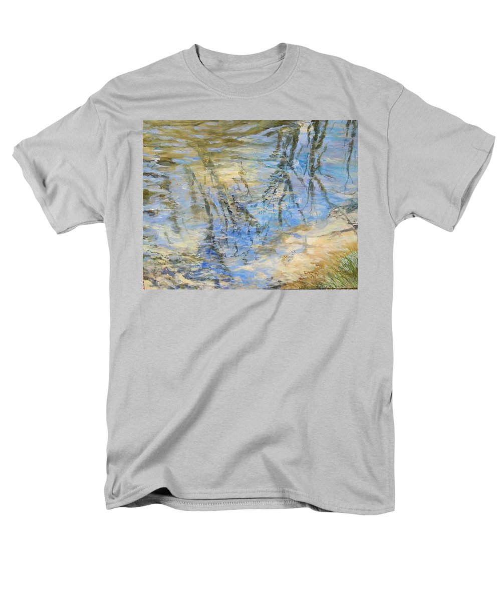 Water Men's T-Shirt (Regular Fit) featuring the painting Big Creek by Denise Ivey Telep