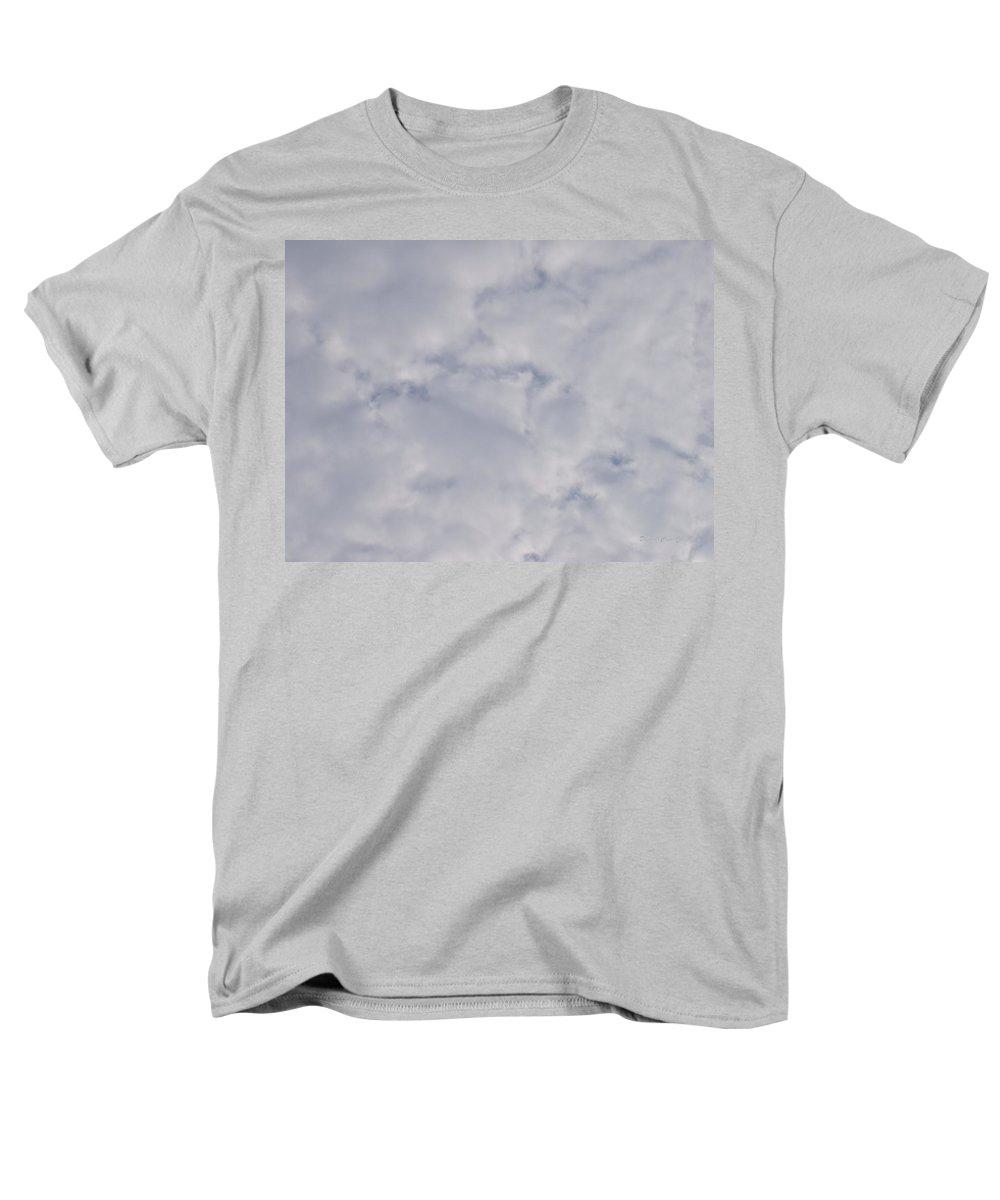 Clouds Men's T-Shirt (Regular Fit) featuring the photograph Cloud Mass - Fist holding Arrowhead - look closely by Deborah Crew-Johnson