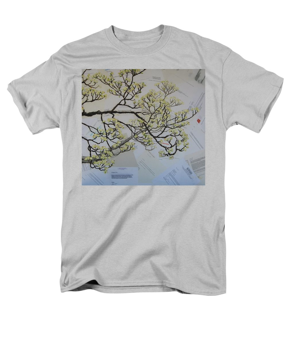 Collage Men's T-Shirt (Regular Fit) featuring the painting Dear Artist by Leah Tomaino