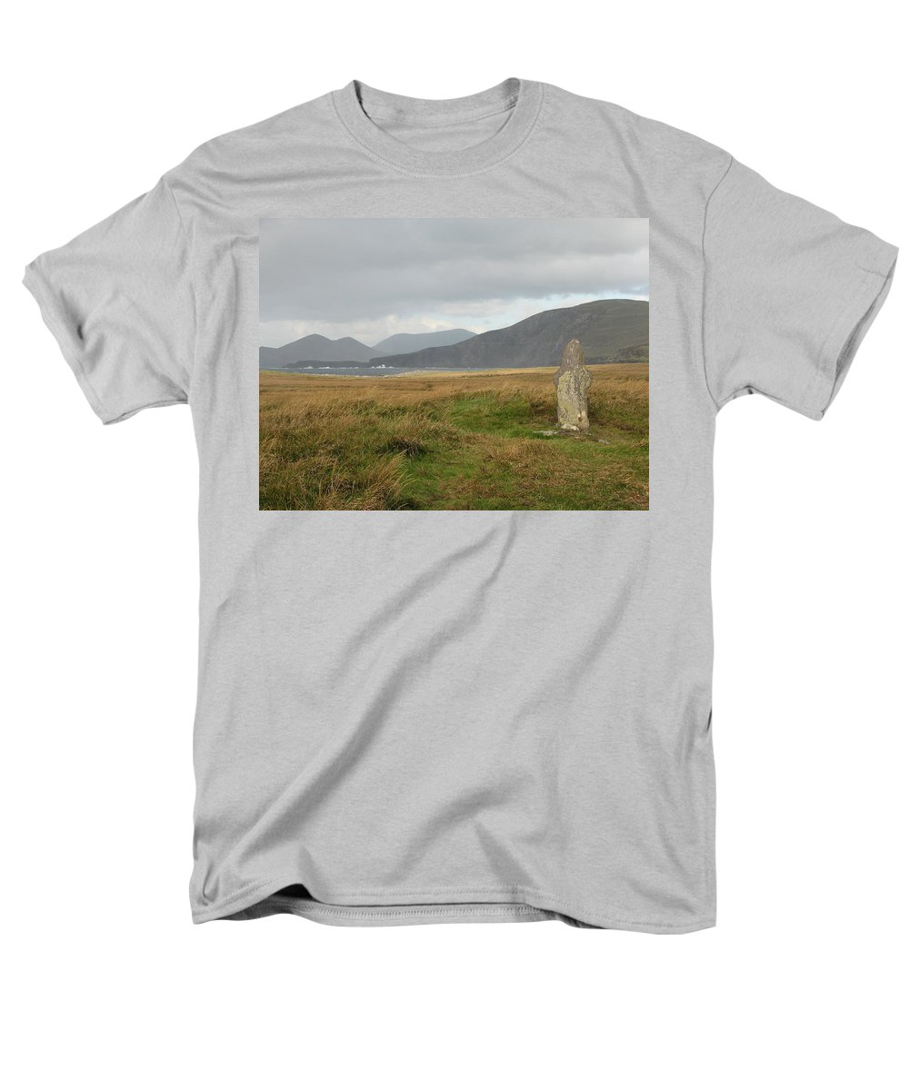 Medievil Men's T-Shirt (Regular Fit) featuring the photograph Edge of the World by Kelly Mezzapelle