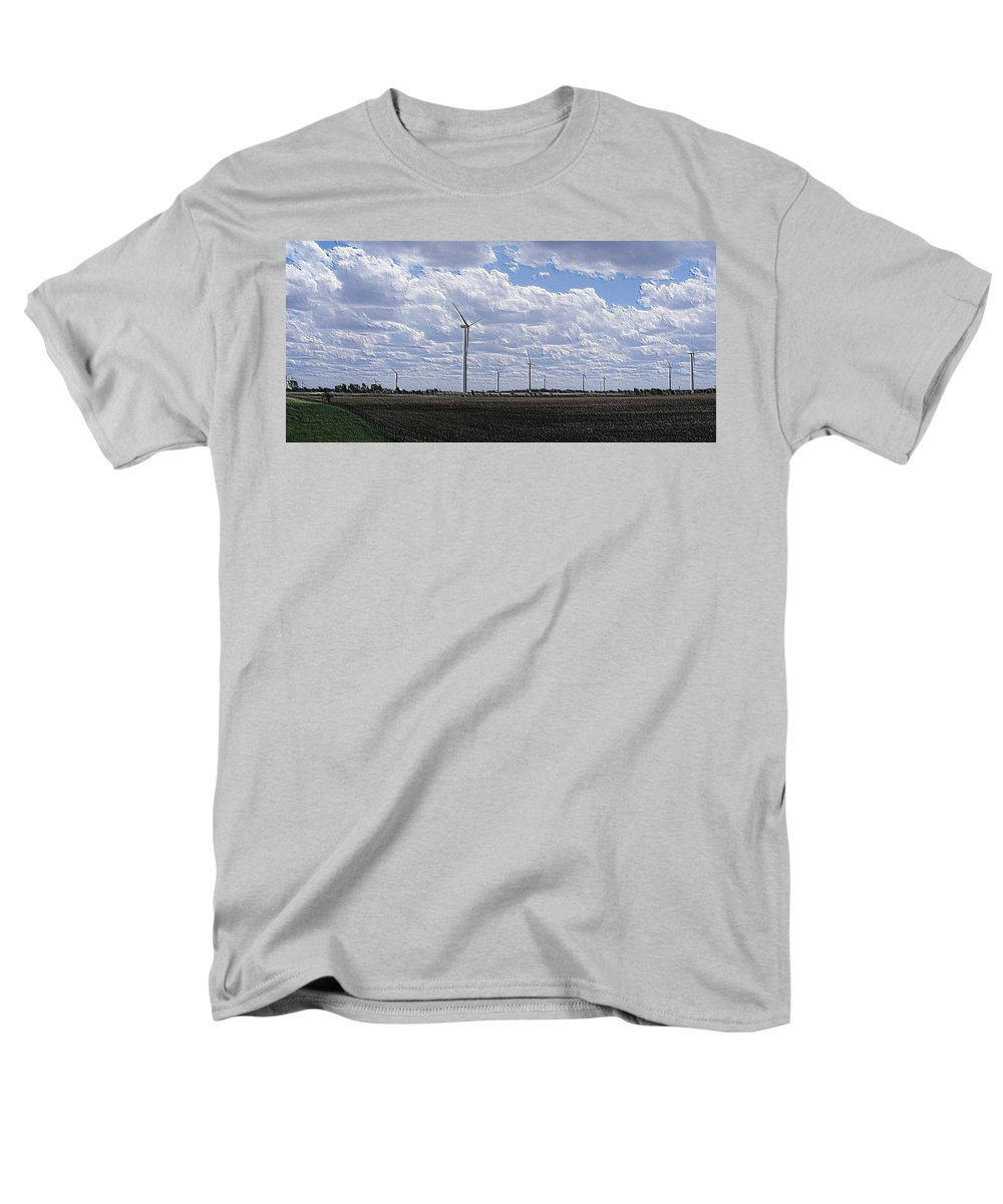 Wind Men's T-Shirt (Regular Fit) featuring the photograph Etched In Stone by Edward Smith