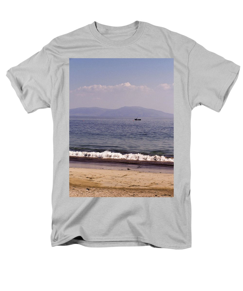 Irish Men's T-Shirt (Regular Fit) featuring the photograph Fishing Boat on Ventry Harbor Ireland by Teresa Mucha