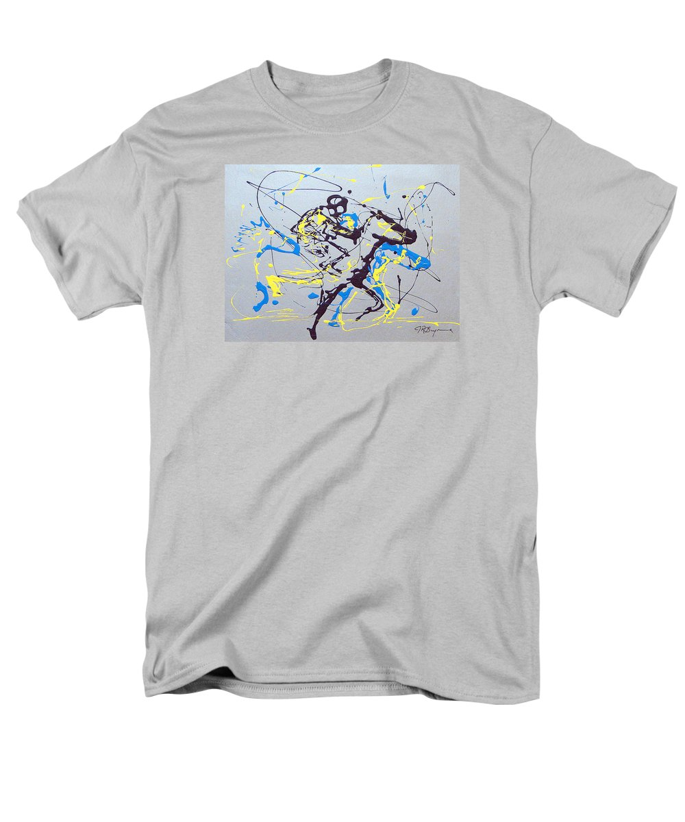 Kentucky Derby Men's T-Shirt (Regular Fit) featuring the painting Great Day In Kentucky by J R Seymour