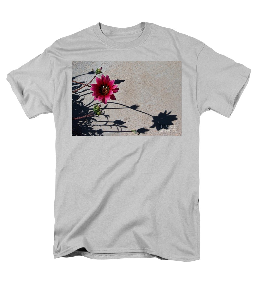 Flowers Men's T-Shirt (Regular Fit) featuring the photograph Me and My Shadow by Kathy McClure
