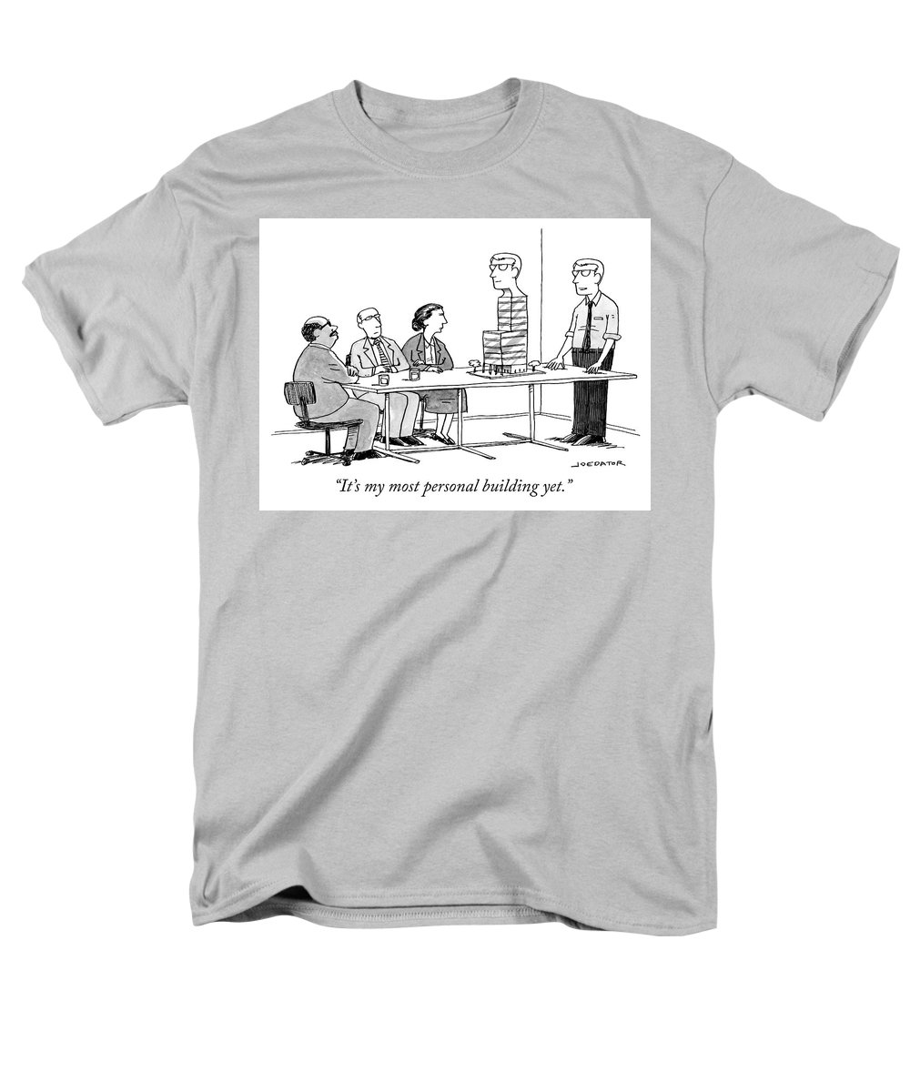 """it's My Most Personal Building Yet."" Men's T-Shirt (Regular Fit) featuring the drawing My most personal building by Joe Dator"