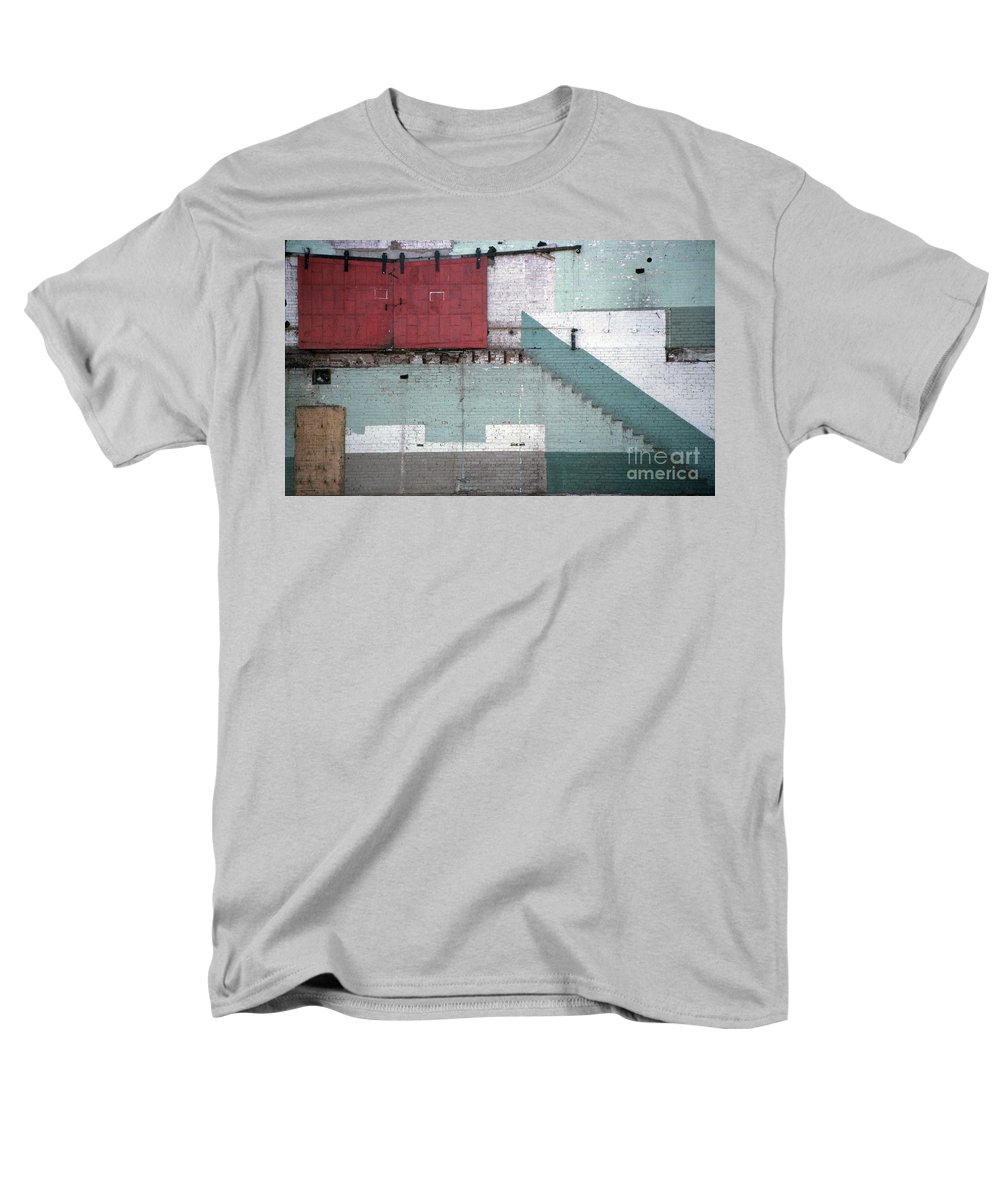 Abstract Men's T-Shirt (Regular Fit) featuring the photograph Partial Demolition by Richard Rizzo