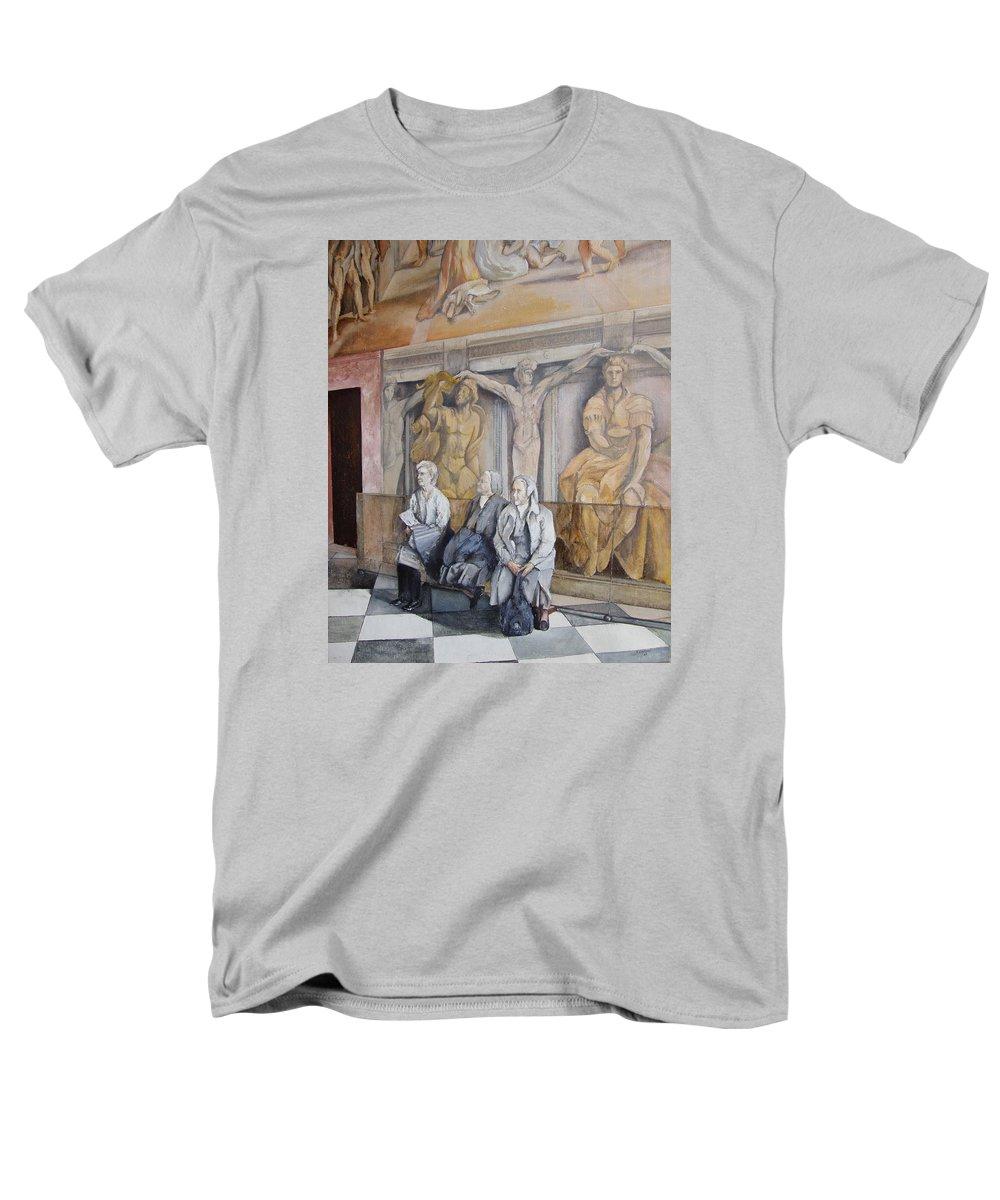 Vaticano Men's T-Shirt (Regular Fit) featuring the painting Reposo En El Vaticano by Tomas Castano