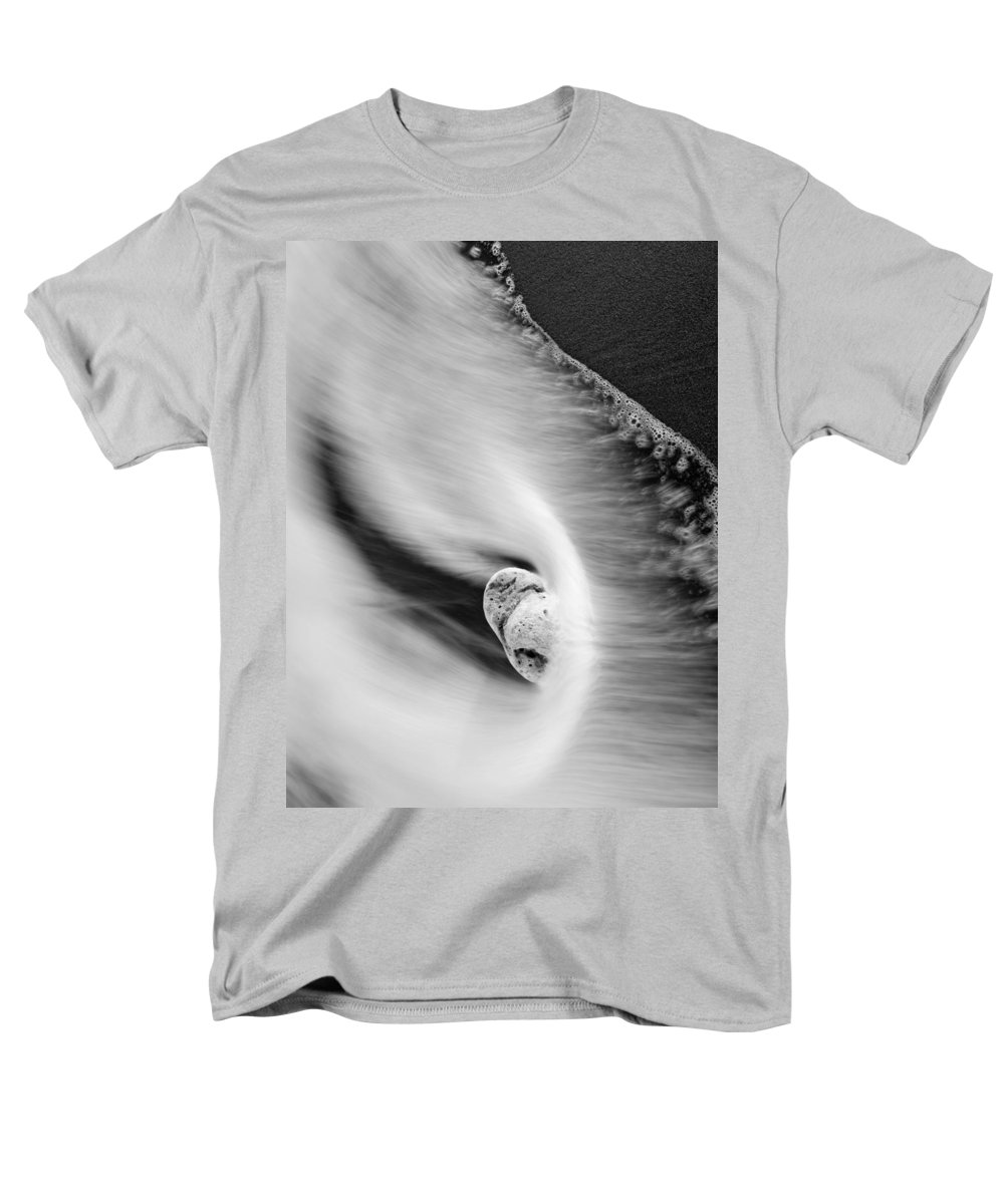 Rock Men's T-Shirt (Regular Fit) featuring the photograph Sand and Sea by Mike Dawson