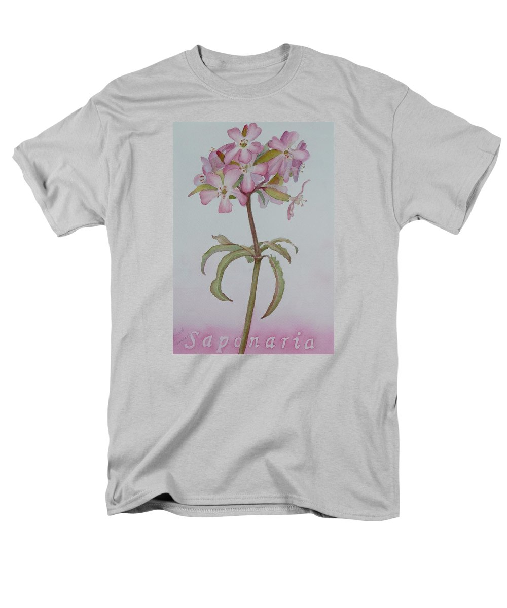 Flower Men's T-Shirt (Regular Fit) featuring the painting Saponaria by Ruth Kamenev