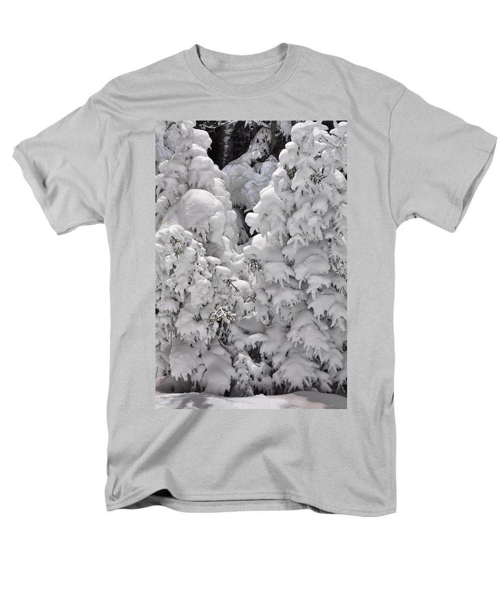Snow Men's T-Shirt (Regular Fit) featuring the photograph Snow Coat by Alex Grichenko