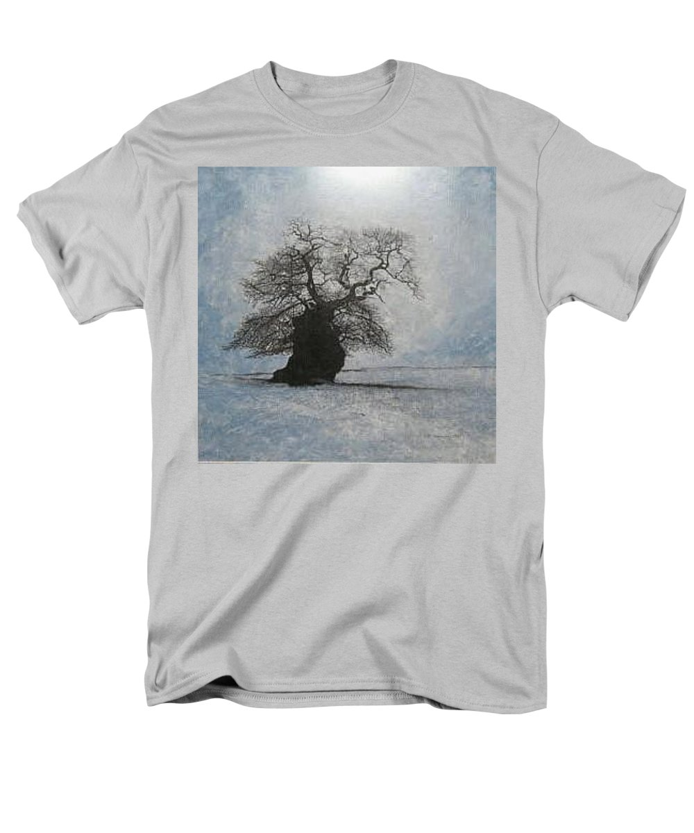 Silhouette Men's T-Shirt (Regular Fit) featuring the painting Stilton Silhouette by Leah Tomaino