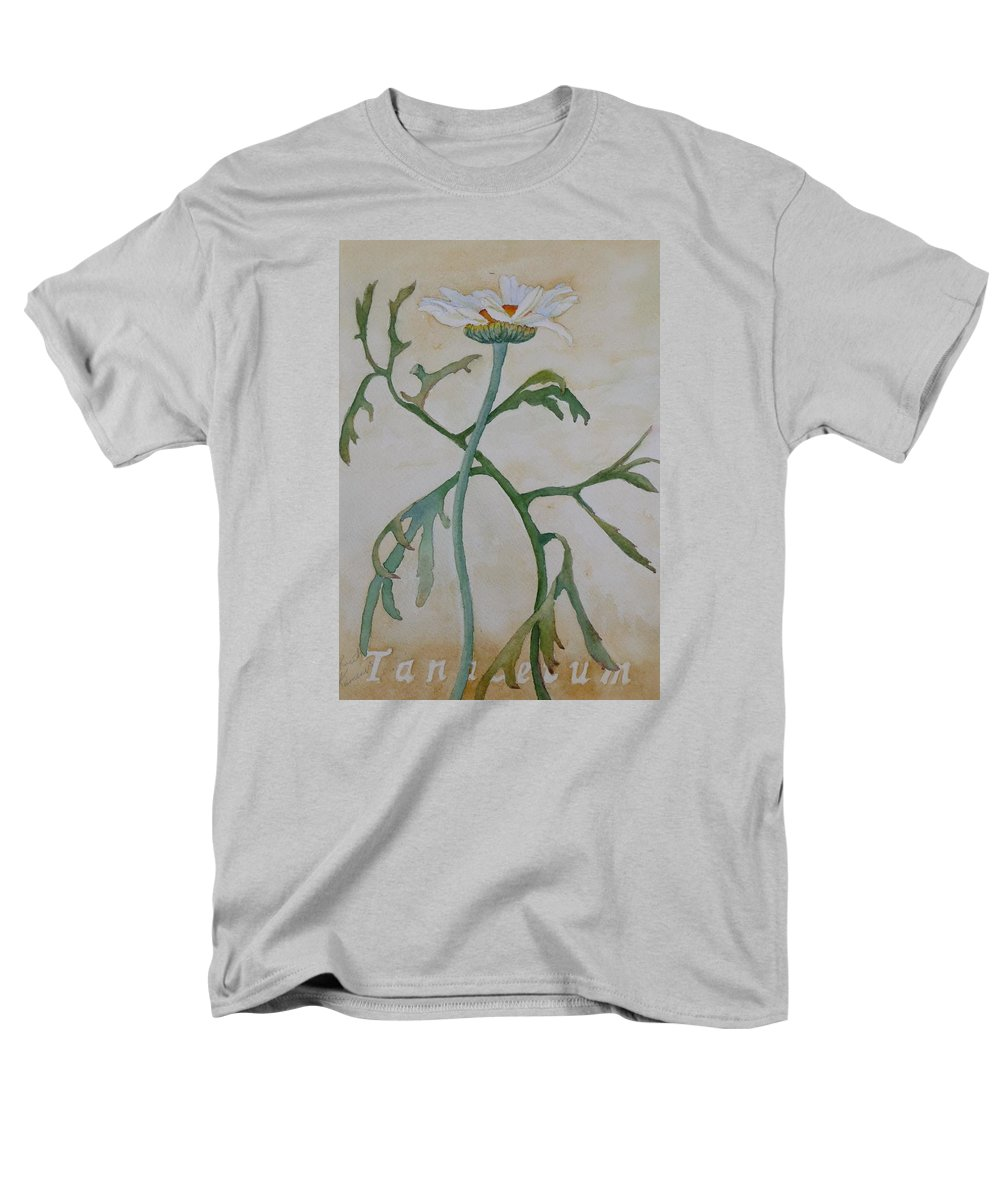 Flower Men's T-Shirt (Regular Fit) featuring the painting Tanacetum by Ruth Kamenev