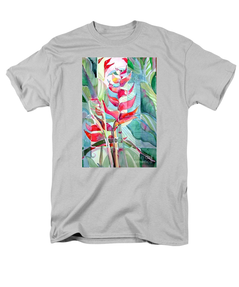 Landscape Men's T-Shirt (Regular Fit) featuring the painting Tropicana Red by Mindy Newman