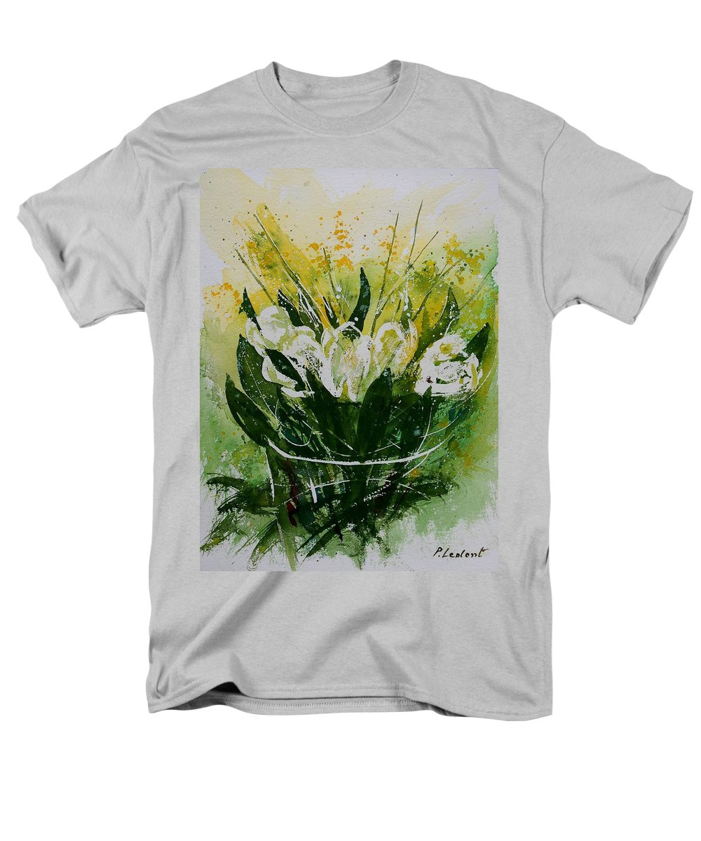Flowers Men's T-Shirt (Regular Fit) featuring the painting Watercolor Tulips by Pol Ledent