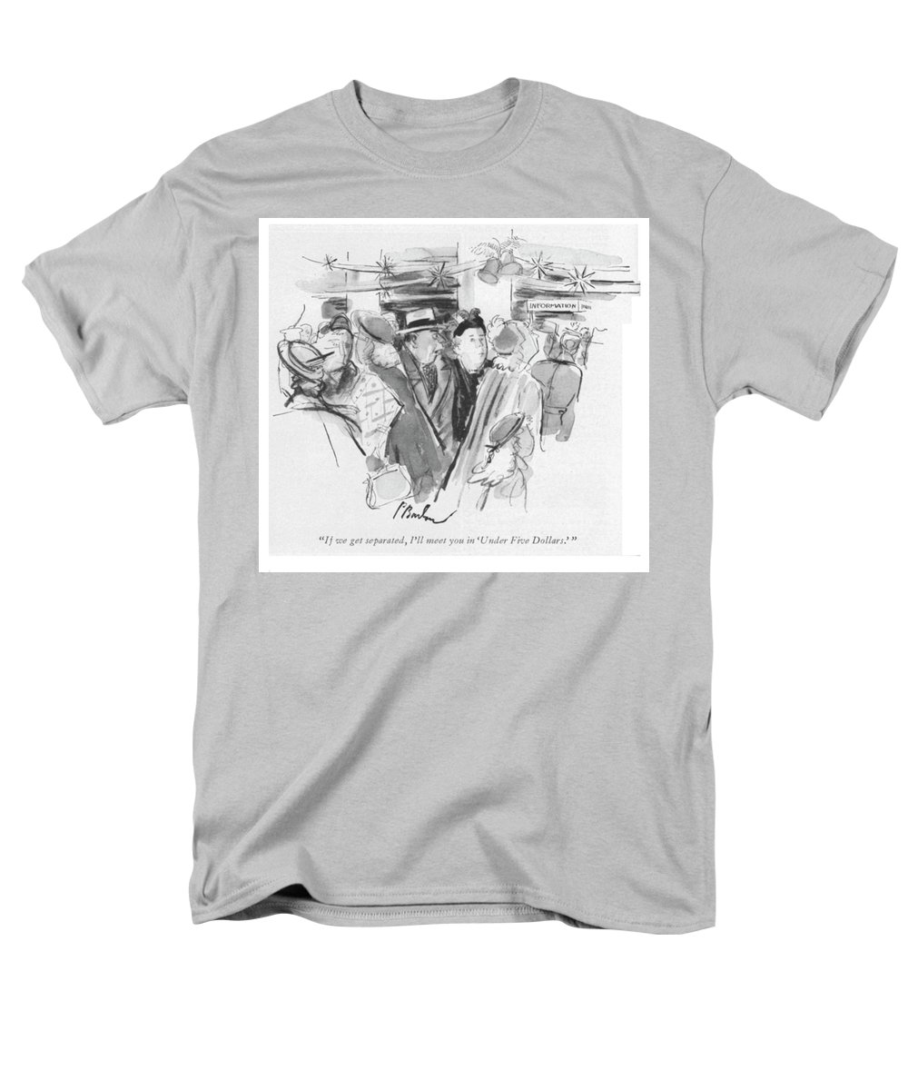 """97648 Pba Perry Barlow """"if We Get Separated Men's T-Shirt (Regular Fit) featuring the drawing Under Five Dollars by Perry Barlow"""
