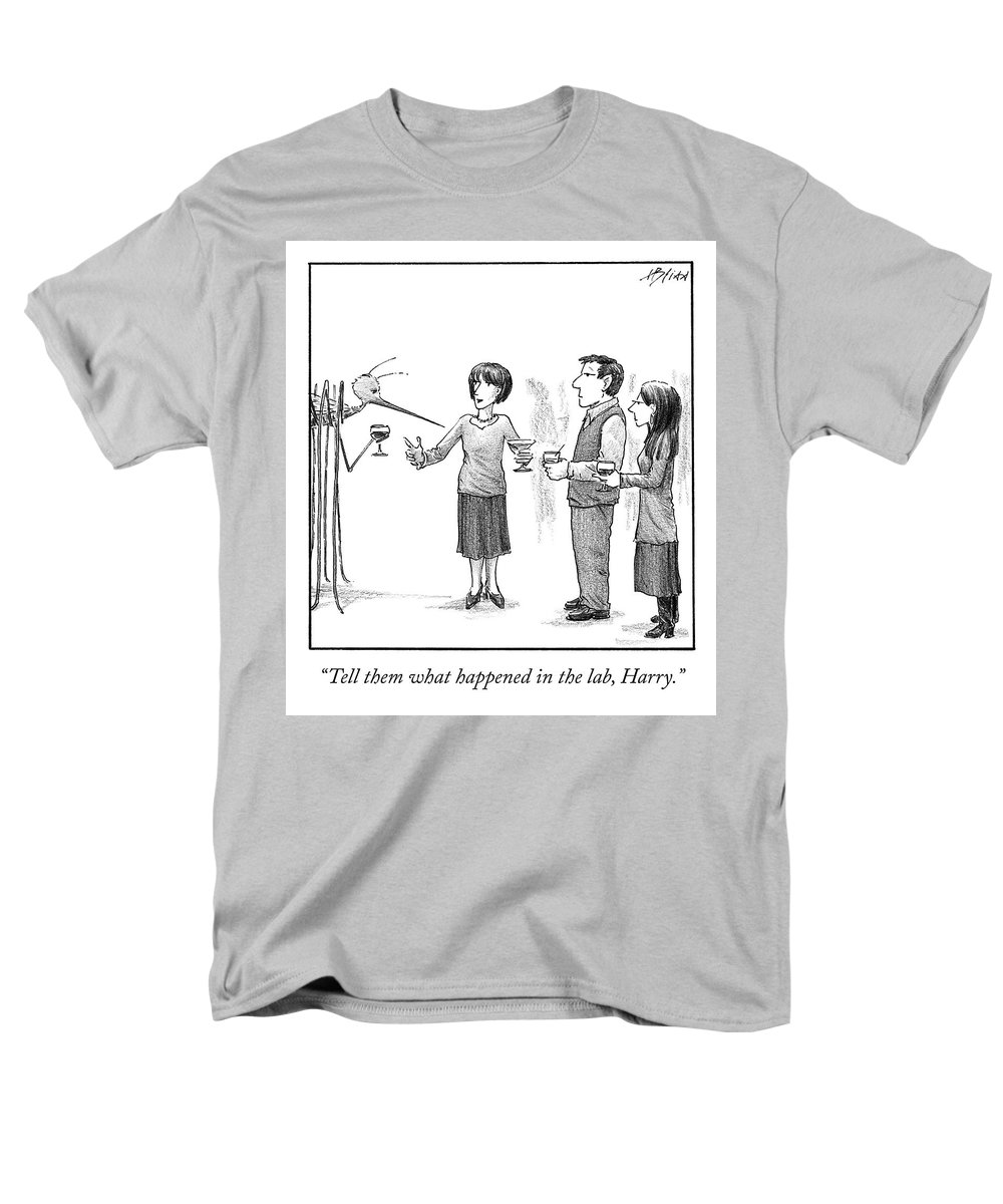 Cctk Men's T-Shirt (Regular Fit) featuring the drawing What Happened In The Lab by Harry Bliss