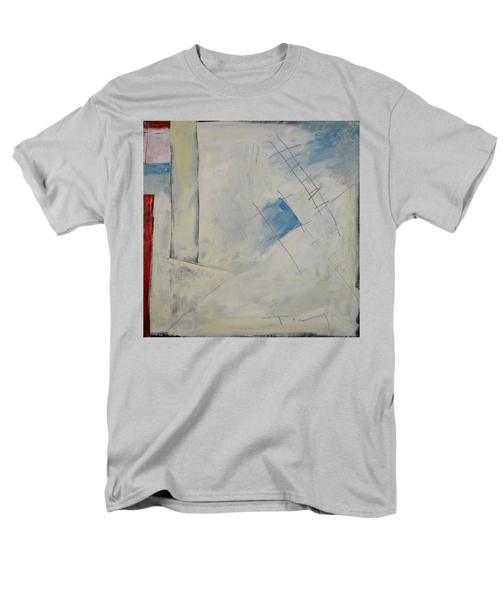 Abstract Men's T-Shirt (Regular Fit) featuring the painting Anticipating The Resurgence Of The Liberal Media by Tim Nyberg