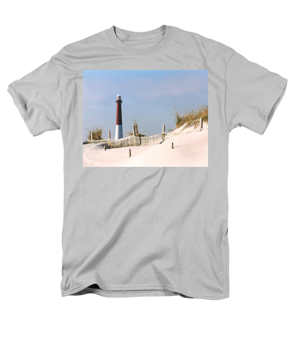 Barnegat Men's T-Shirt (Regular Fit) featuring the photograph Barnegat Lighthouse by Steve Karol