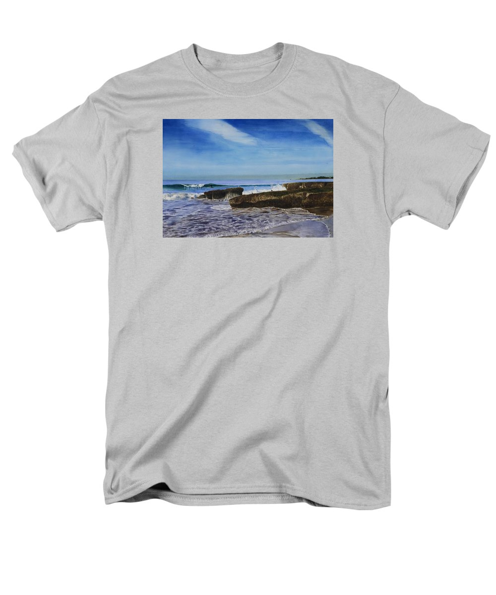 Wave Men's T-Shirt (Regular Fit) featuring the painting Rockview Street by James Robertson