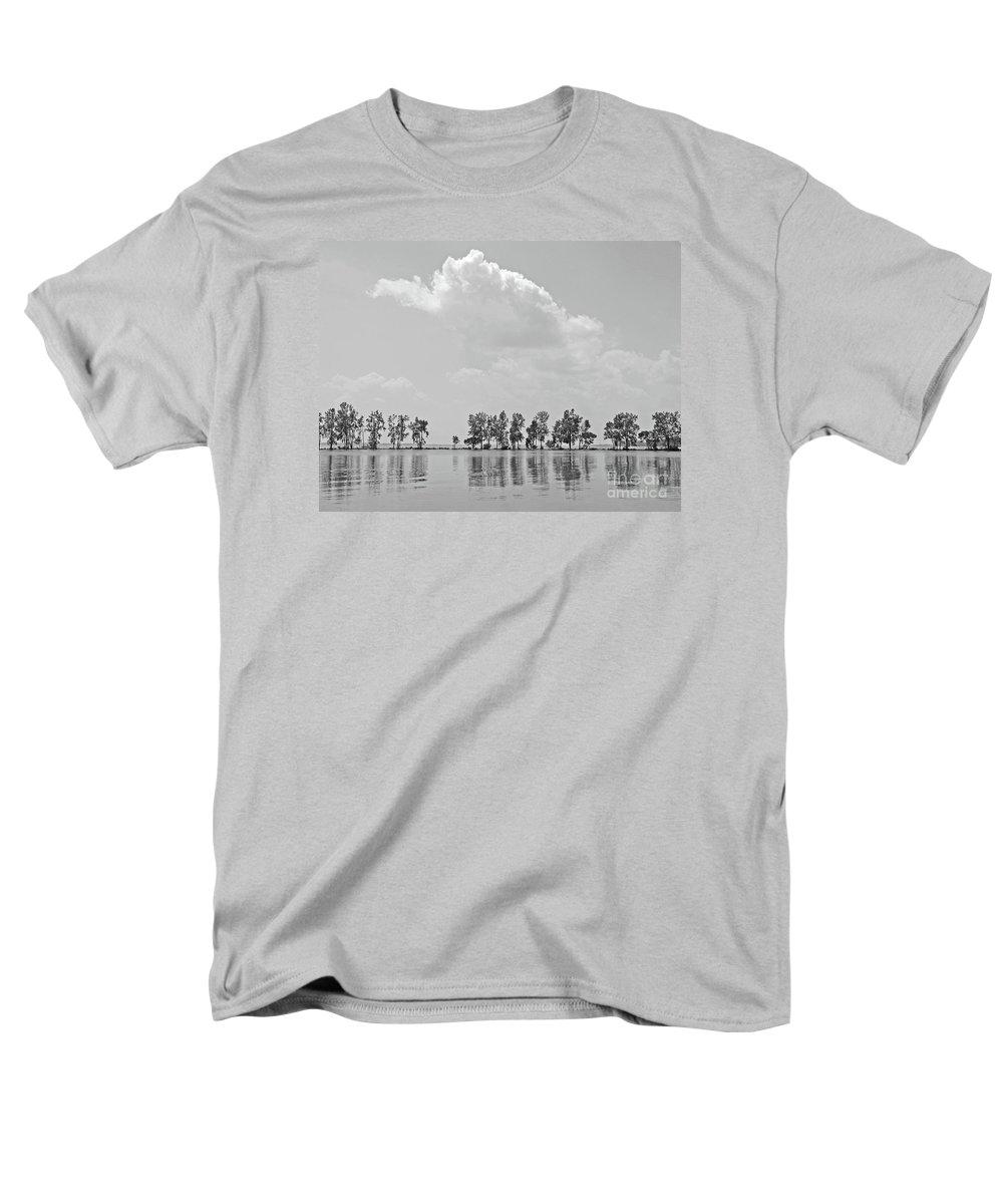 Landscape Men's T-Shirt (Regular Fit) featuring the photograph Tree Line by Ann Horn