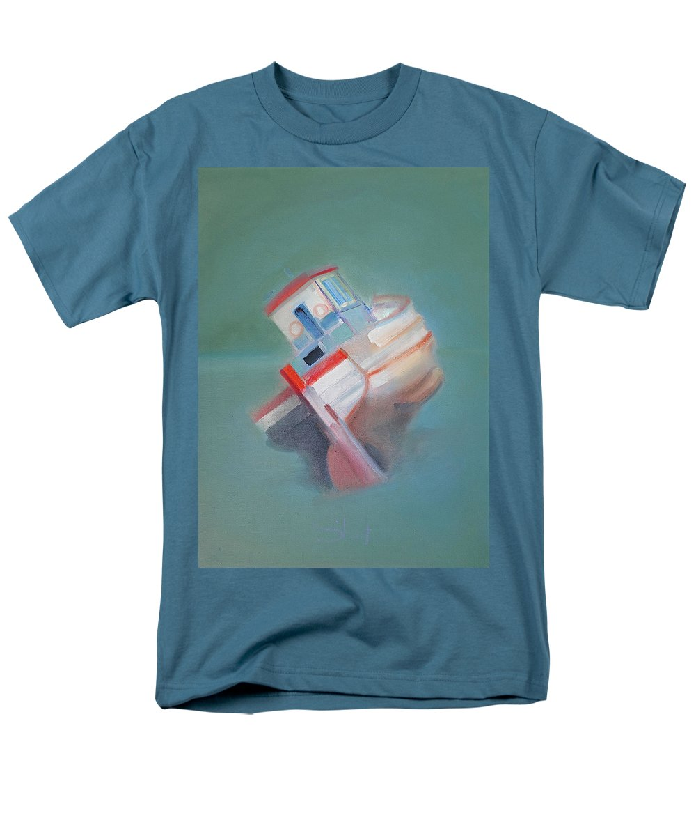 Fishing Boat Men's T-Shirt (Regular Fit) featuring the painting Boat Retired Tavira by Charles Stuart