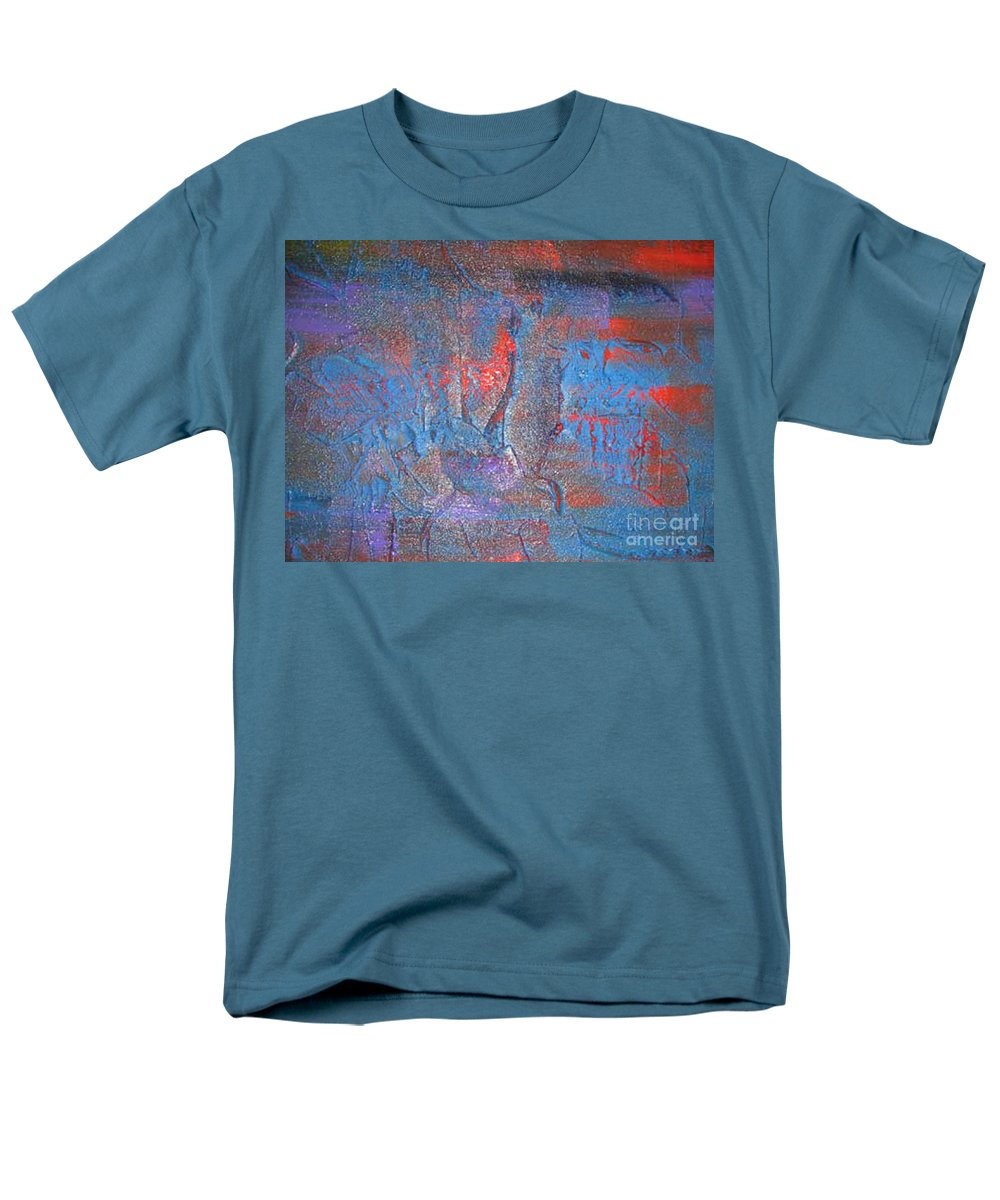 Abstract Men's T-Shirt (Regular Fit) featuring the painting Funny Rain by Silvana Abel