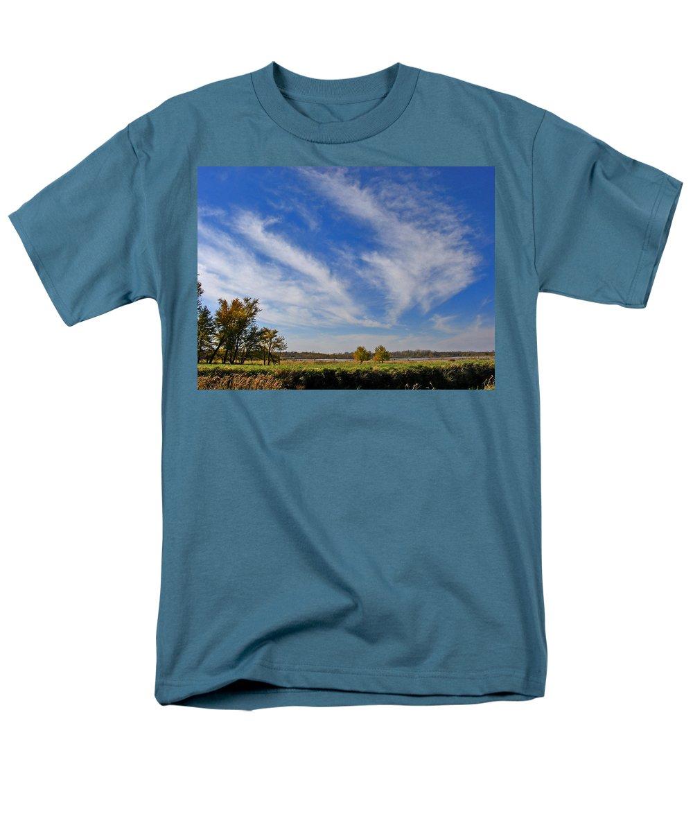 Landscape Men's T-Shirt (Regular Fit) featuring the photograph Squaw Creek Landscape by Steve Karol