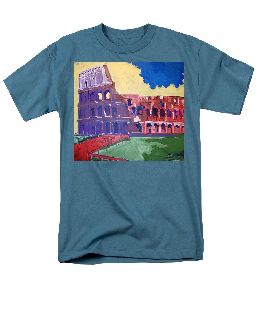 Rome Men's T-Shirt (Regular Fit) featuring the painting Colosseum by Kurt Hausmann