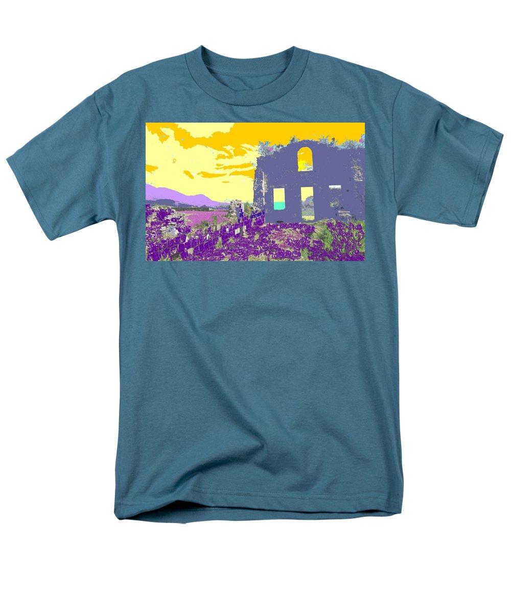 Brimstone Men's T-Shirt (Regular Fit) featuring the photograph Brimstone Sunset by Ian MacDonald