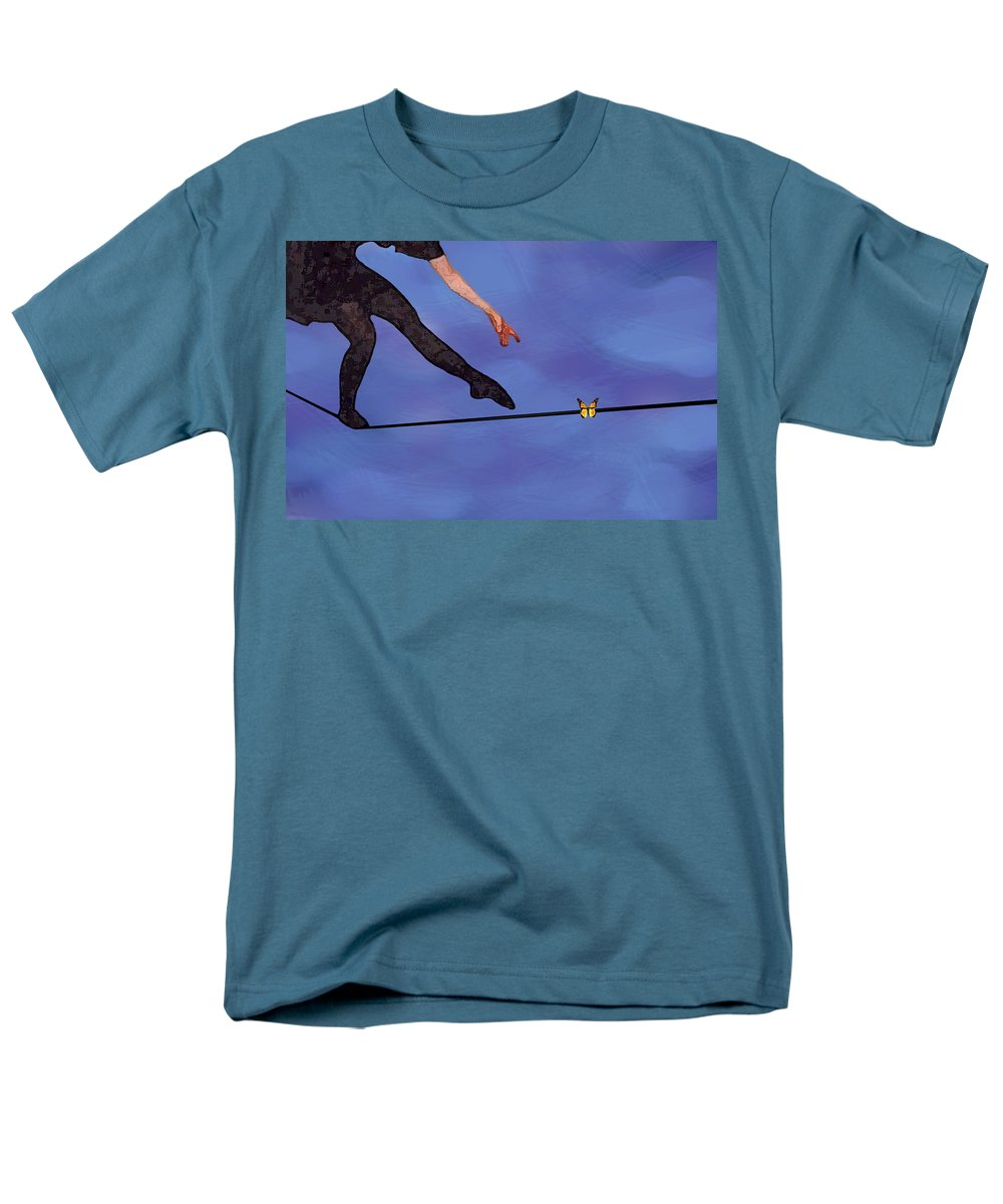 Surreal Men's T-Shirt (Regular Fit) featuring the painting Catching Butterflies by Steve Karol