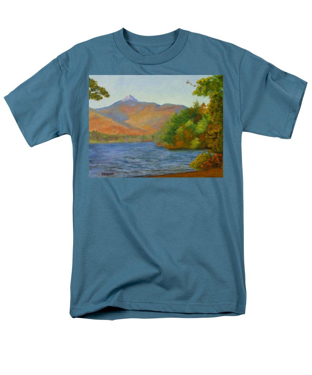 Mount Chocorua And Chocorua Lake Men's T-Shirt (Regular Fit) featuring the painting Chocorua by Sharon E Allen
