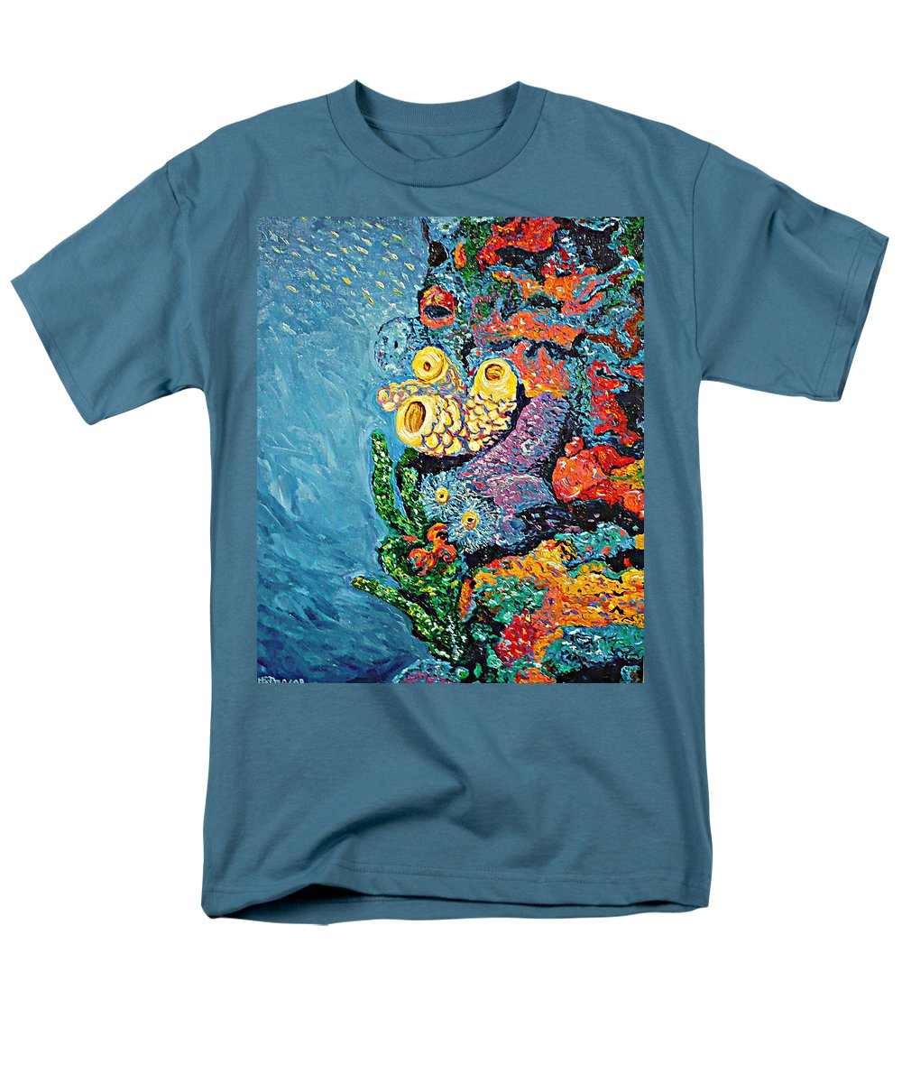Coral Men's T-Shirt (Regular Fit) featuring the painting Coral With Cucumber by Ericka Herazo