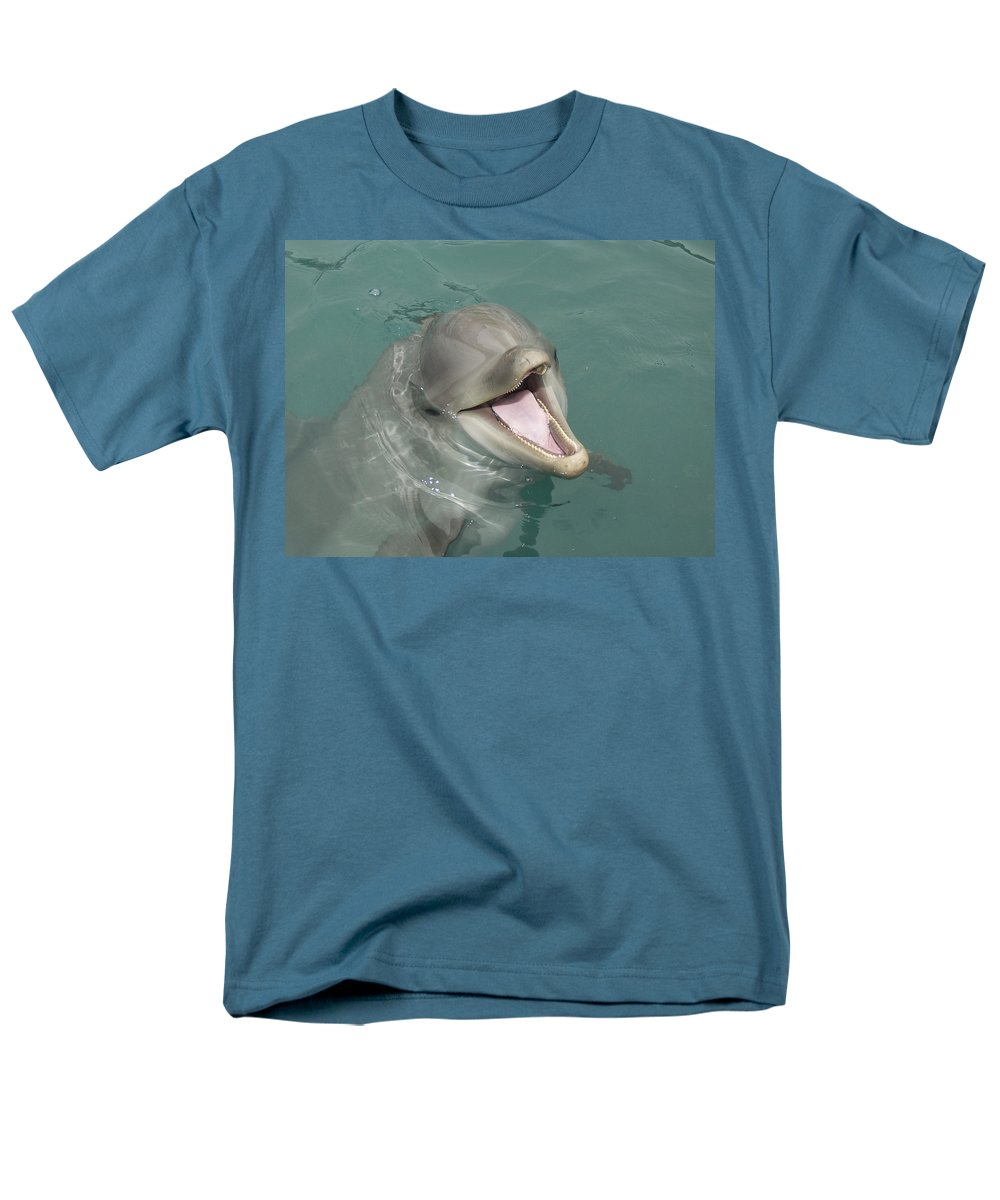 Dolphin Men's T-Shirt (Regular Fit) featuring the painting Dolphin by Sean M