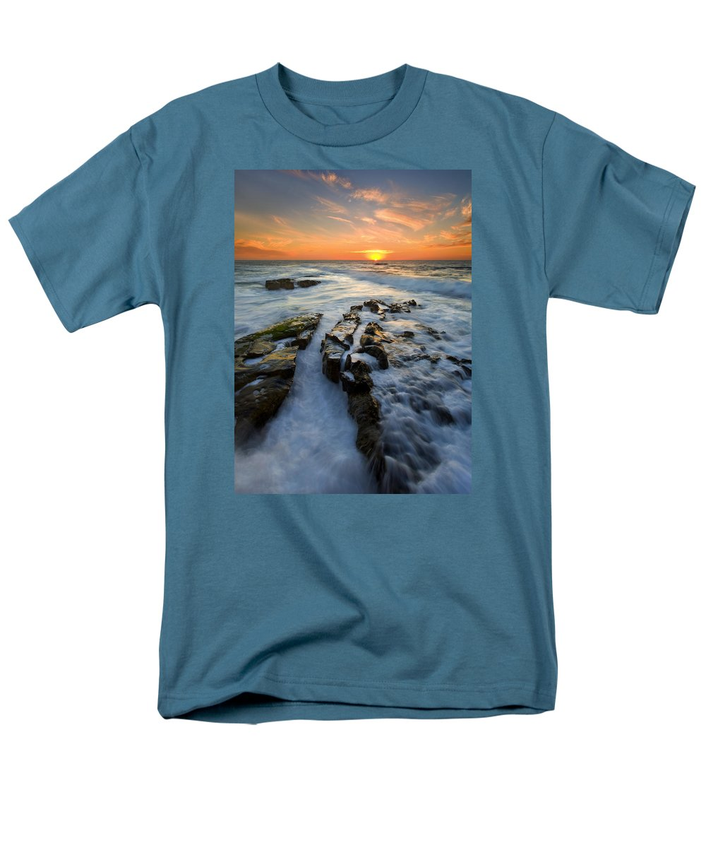 Sunset Men's T-Shirt (Regular Fit) featuring the photograph Engulfed by Mike Dawson