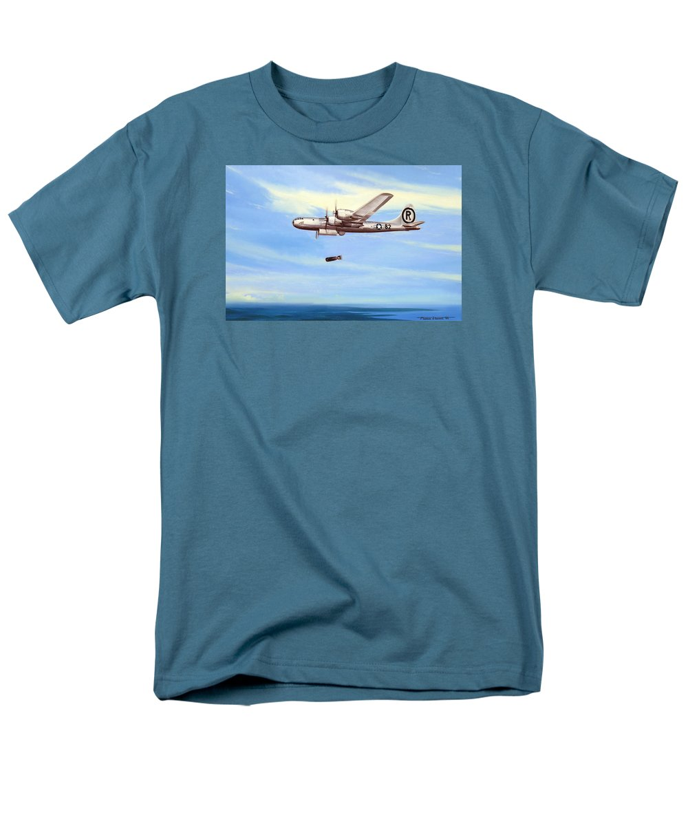 Military Men's T-Shirt (Regular Fit) featuring the painting Enola Gay by Marc Stewart