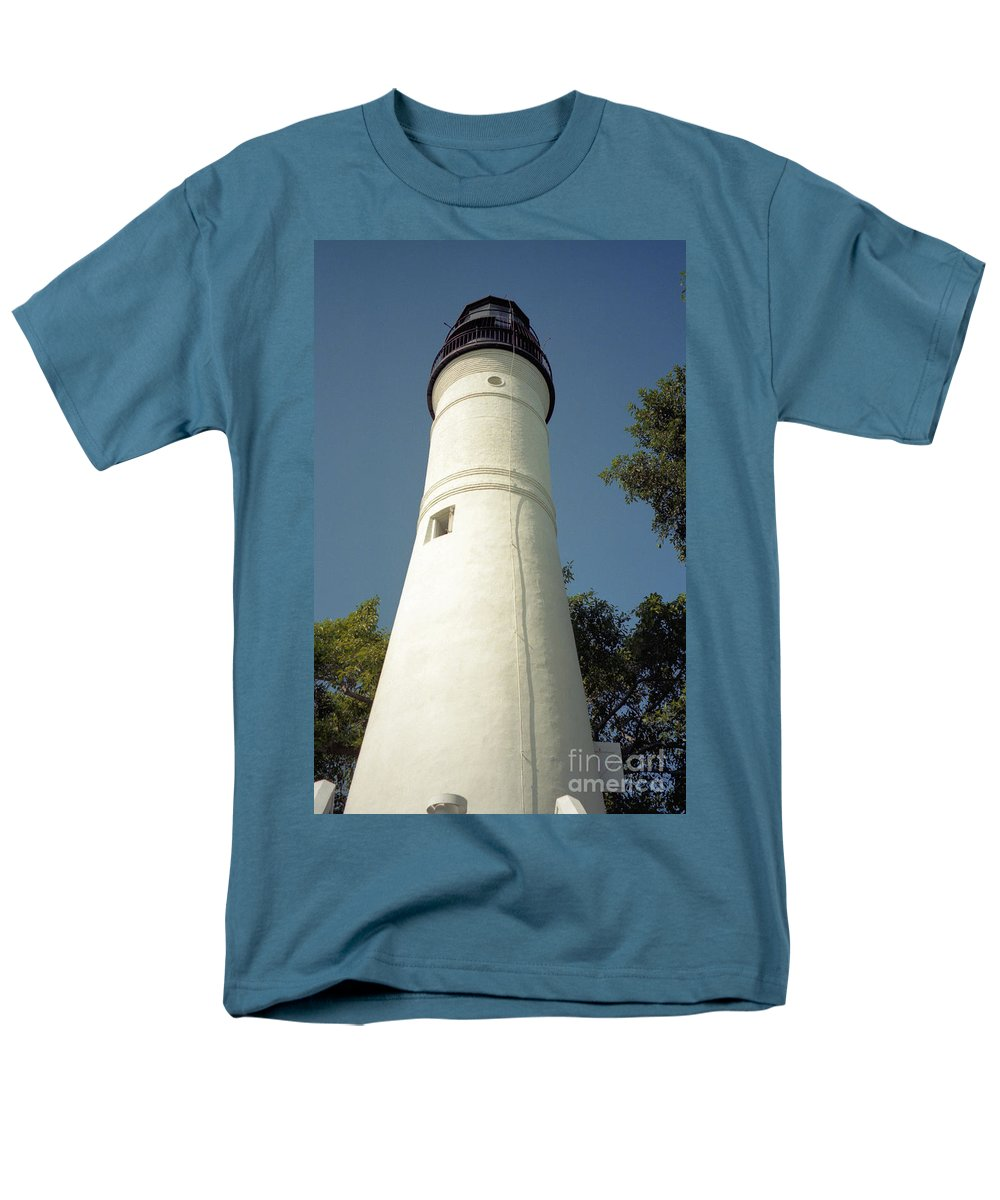 Lighthouses Men's T-Shirt (Regular Fit) featuring the photograph Key West Lighthouse by Richard Rizzo