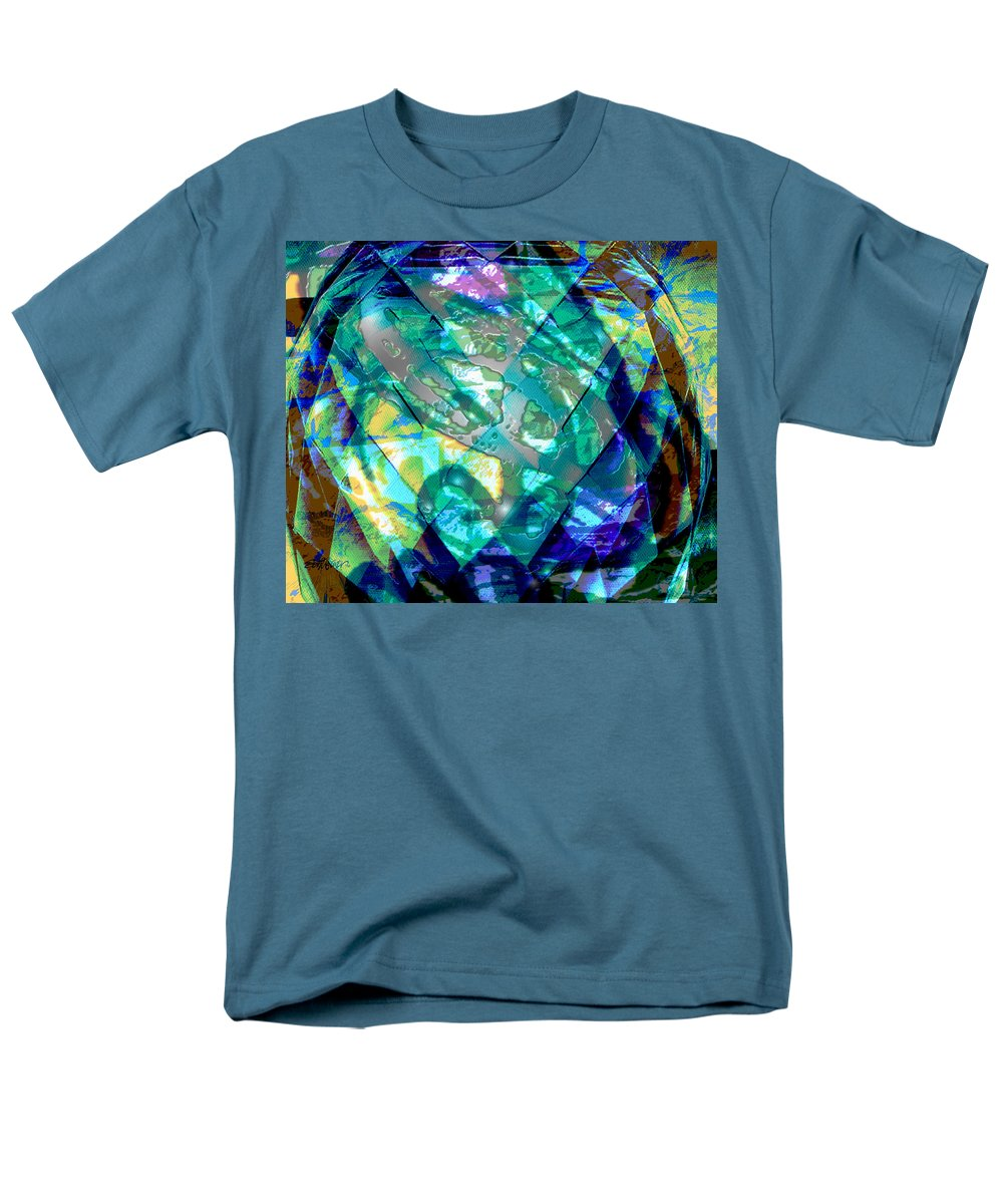 Abstract Men's T-Shirt (Regular Fit) featuring the digital art Mainspring of Time by Seth Weaver